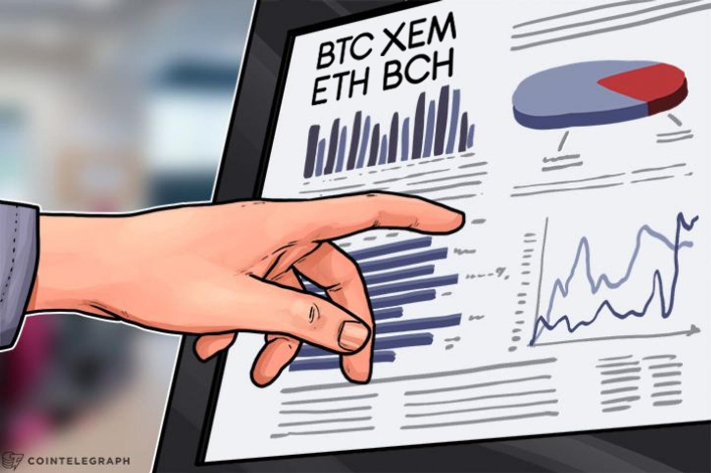 Bitcoin, Ethereum, NEM, Bitcoin Cash: Análisis de precios, 15 de agosto