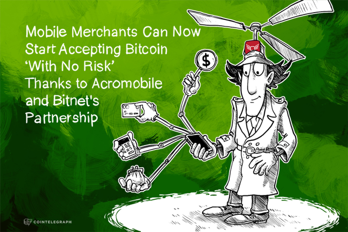 Mobile Merchants Can Now Start Accepting Bitcoin 'With No Risk' Thanks to Acromobile and Bitnet's Partnership