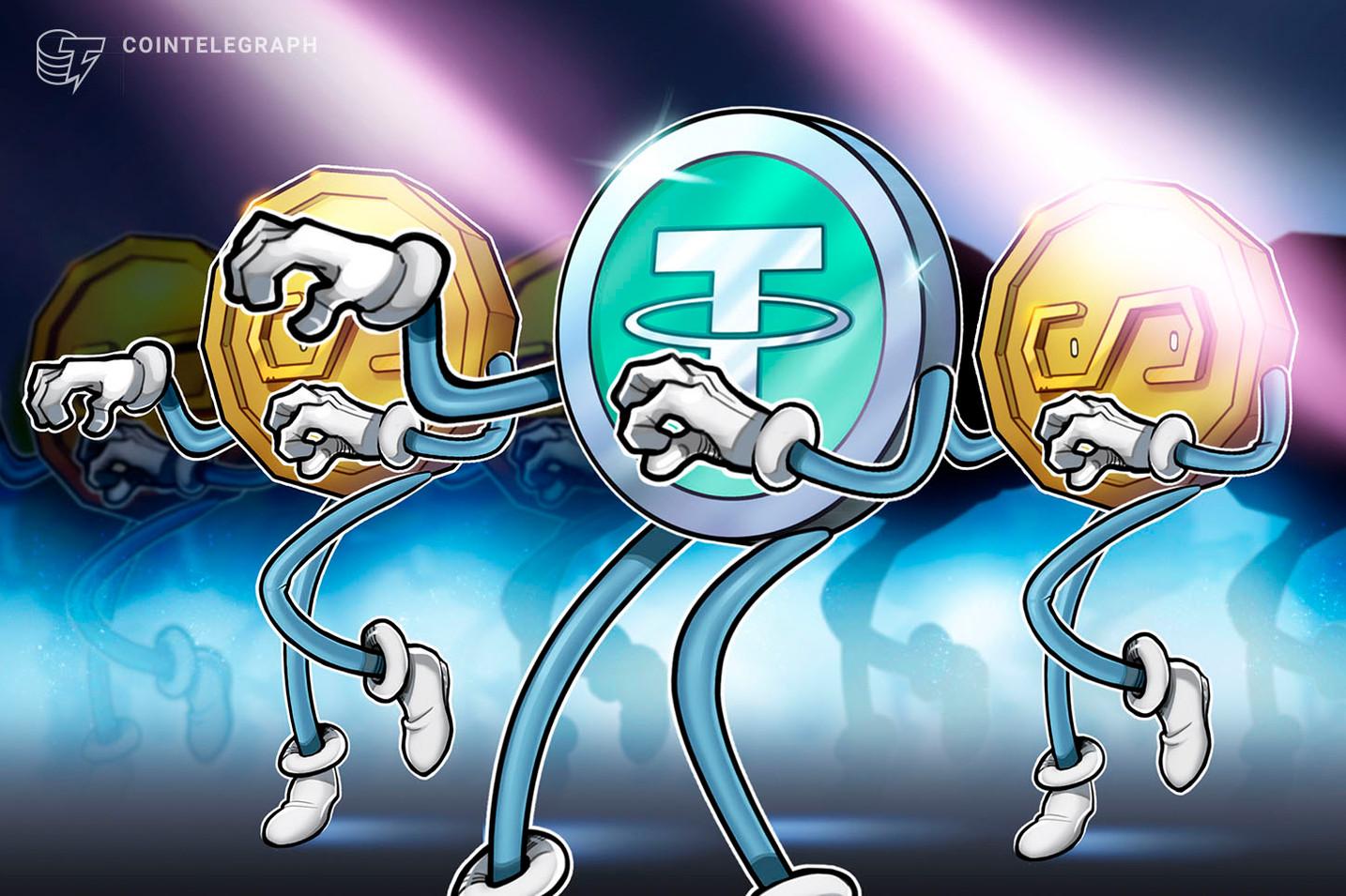 Según muestran los datos los tokens USDT se mueven cada ocho días en promedio