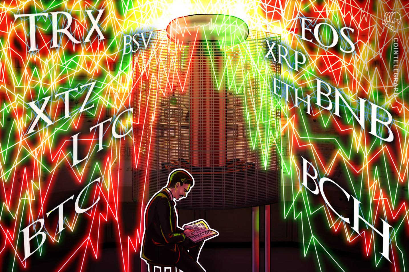 Análise de preços 25 de dezembro: BTC, ETH, XRP, BCH, LTC, EOS, BNB, BSV, XTZ, TRX