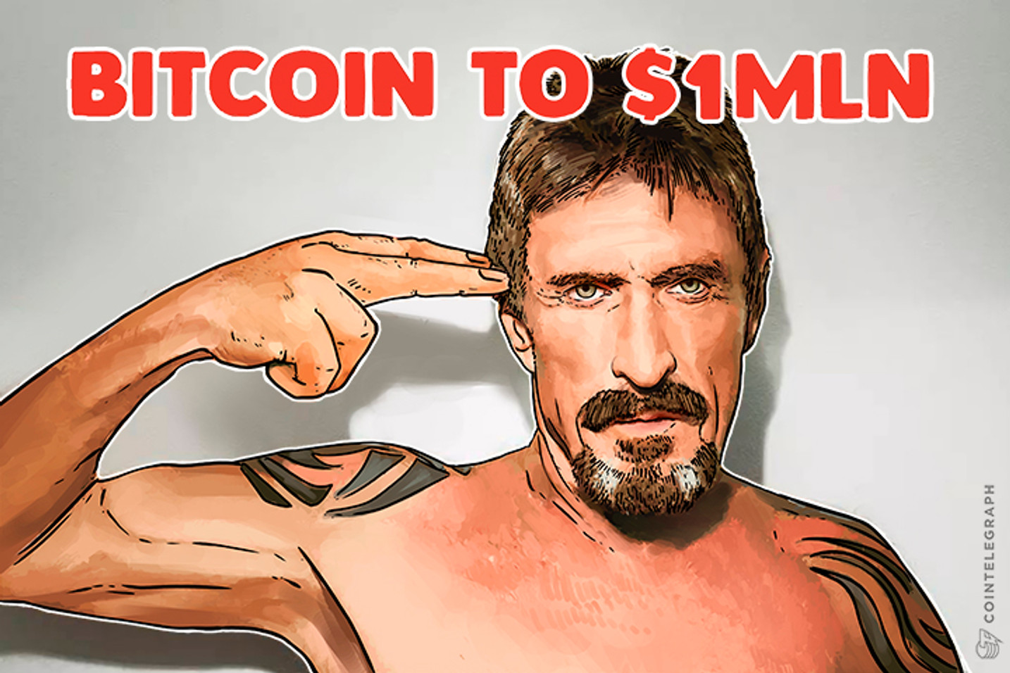 John McAfee Doubles Down, Predicts $1 Mln BTC, Bets His D**k On It
