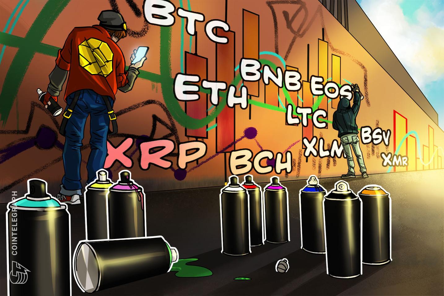 Analisi dei prezzi 12/08: BTC, ETH, XRP, BCH, LTC, BNB, EOS, BSV, XMR, XLM