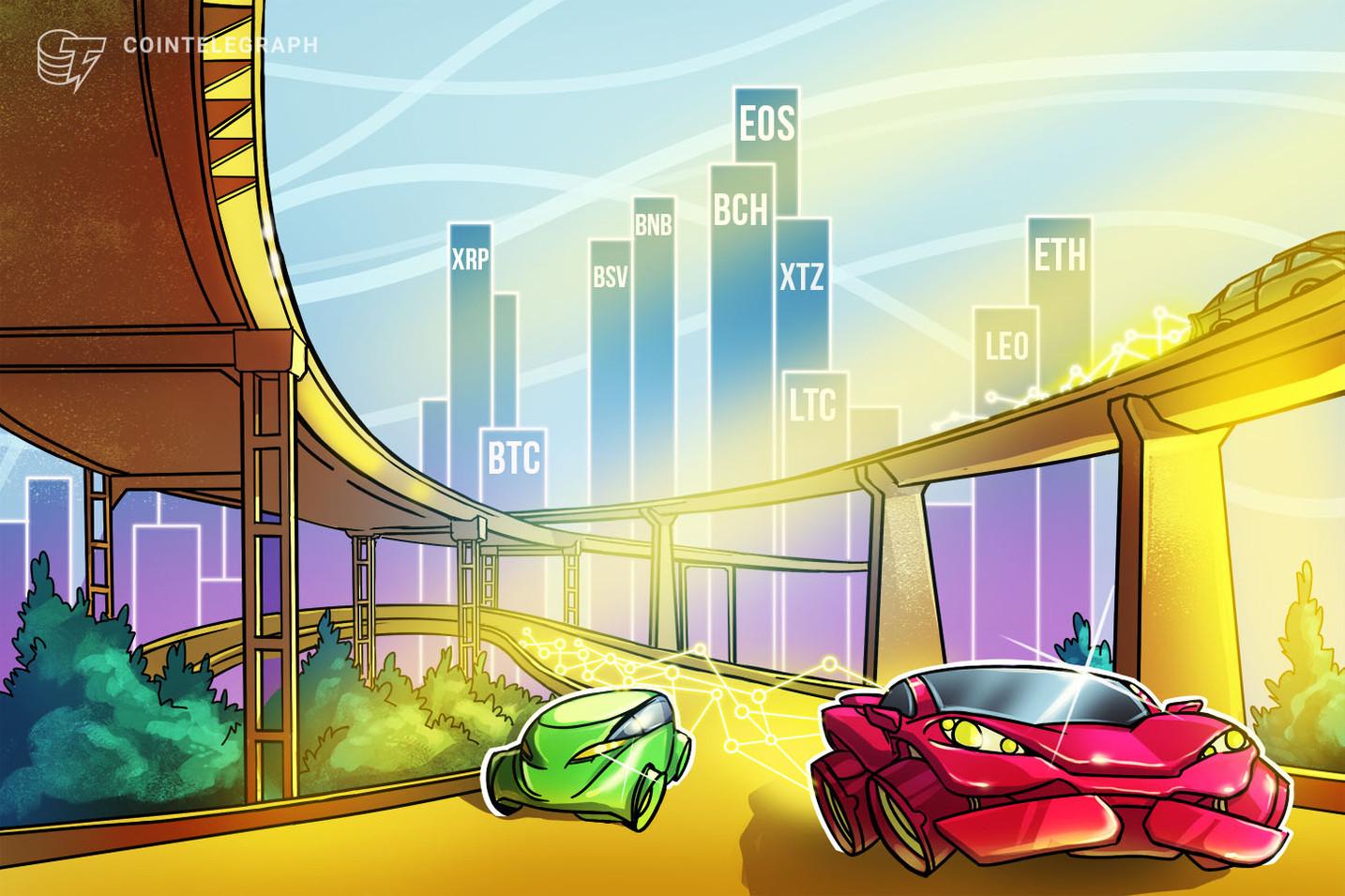 Análisis de precios del 8 de abril: BTC, ETH, XRP, BCH, BSV, LTC, EOS, BNB, XTZ, LEO