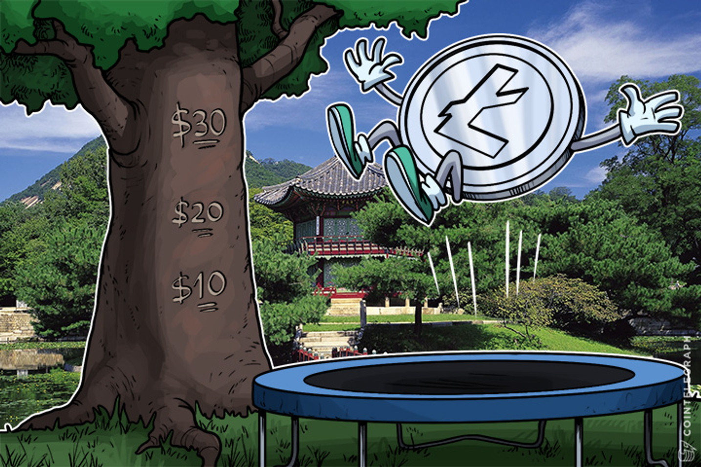 Litecoin Price Surges to $30 as South Korea's Largest Exchange Adds Support