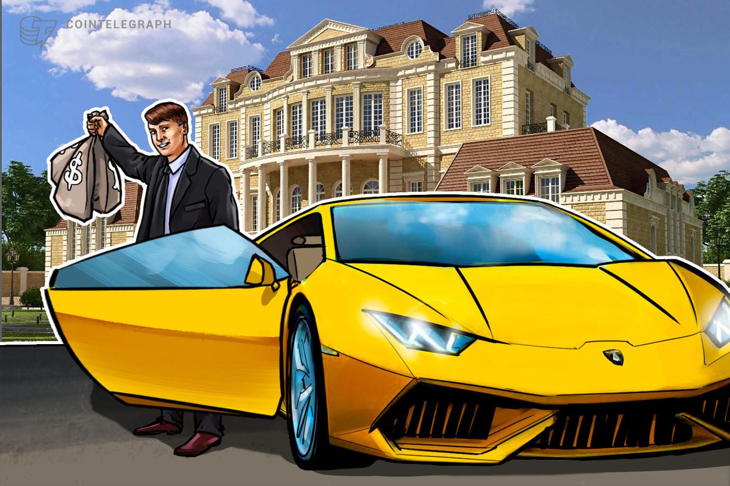 Krypto-Millionäre - und solche, die es werden wollen - messen ihr Vermögen in Lamborghinis