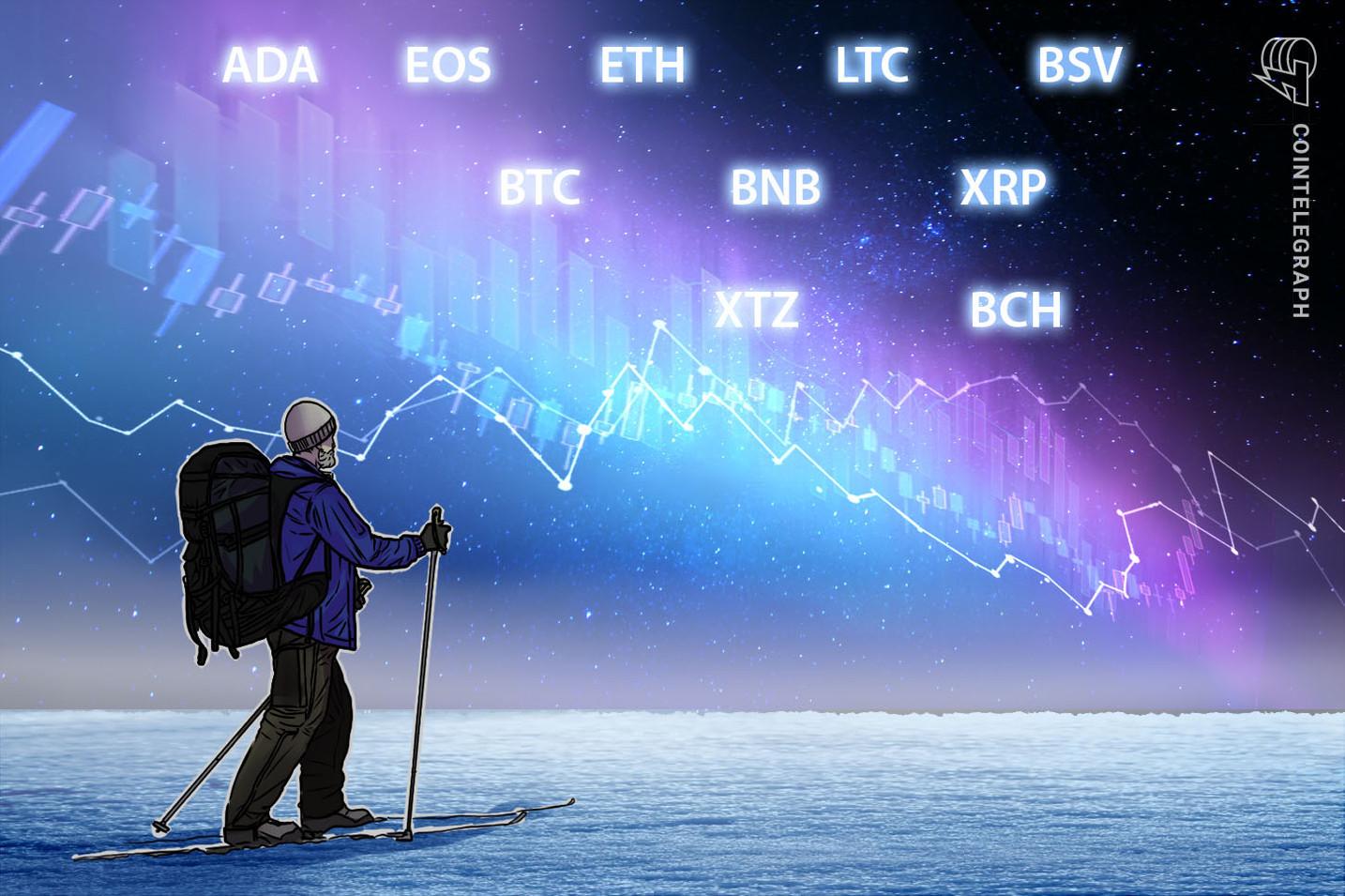 Análisis de precios del 5 de febrero: BTC, ETH, XRP, BCH, BSV, LTC, EOS, BNB, ADA, XTZ