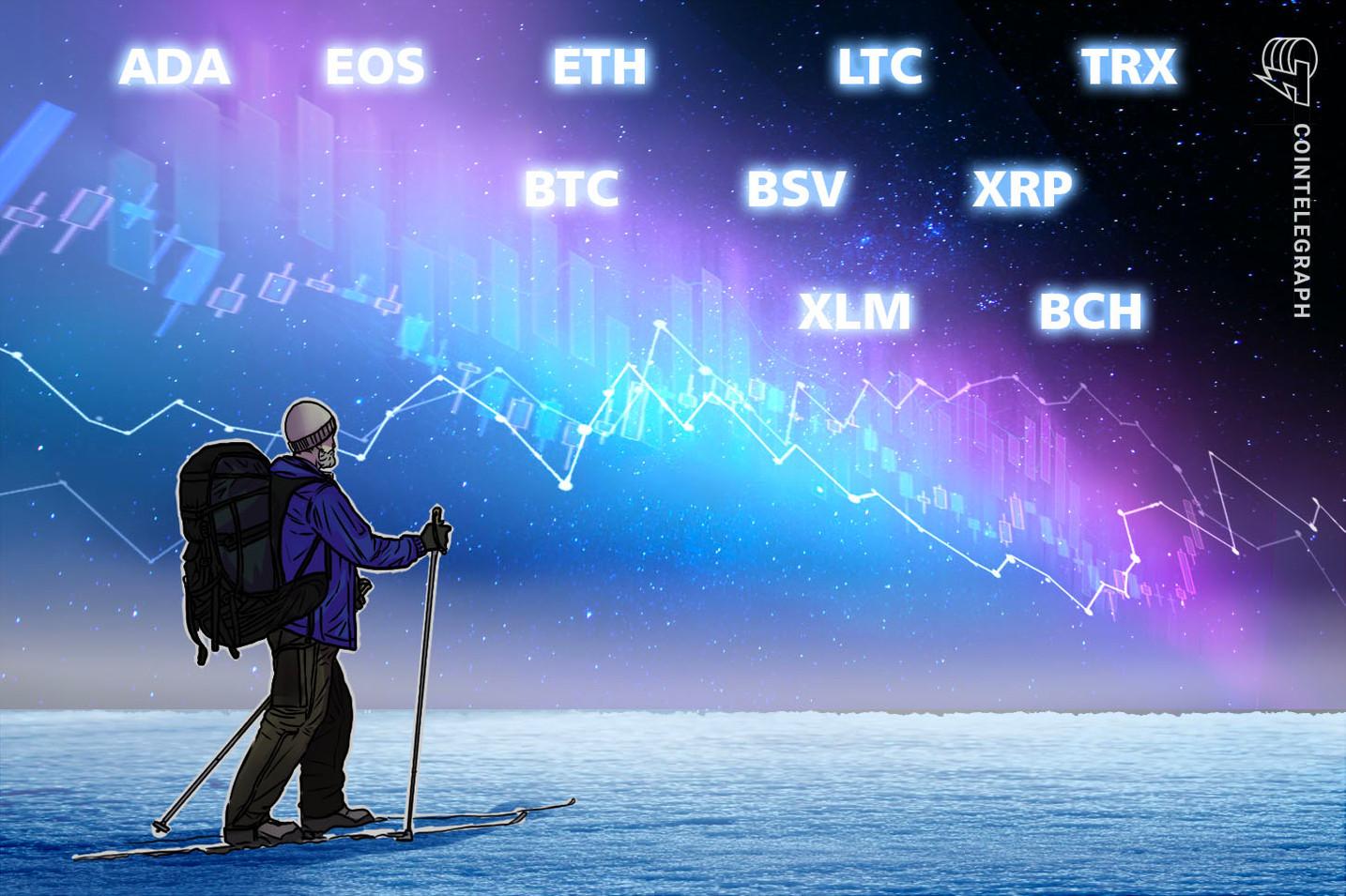 Kursanalyse, 4. Januar: Bitcoin, Ethereum, Ripple, Bitcoin Cash, EOS, Stellar, Litecoin, Bitcoin SV, TRON, Cardano