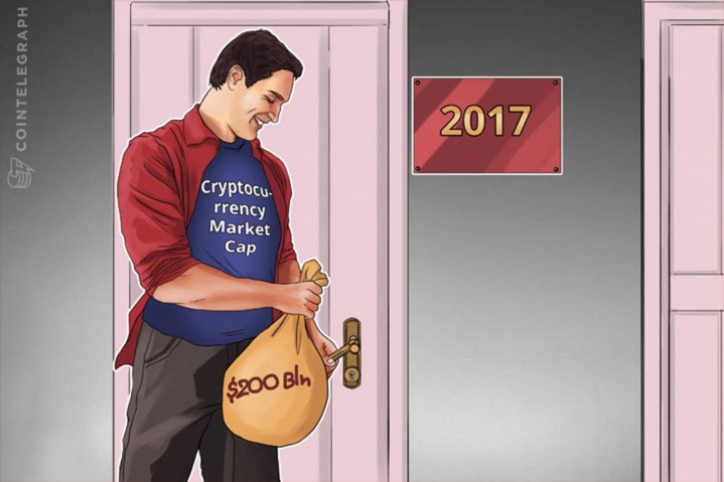 暗号通貨の市場規模が2017年終わりまでに2,000億ドルを突破する可能性