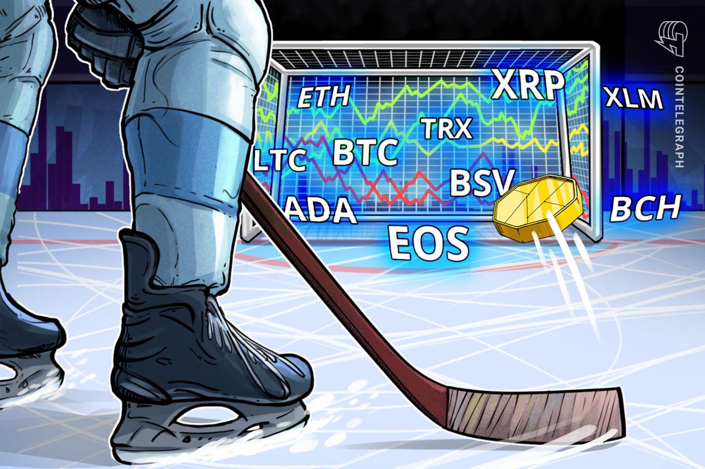 Bitcoin, Ripple, Ethereum, Bitcoin Cash, EOS, Stellar, Litecoin, Tron, Bitcoin SV, Cardano: Análisis de precios, 14 de enero