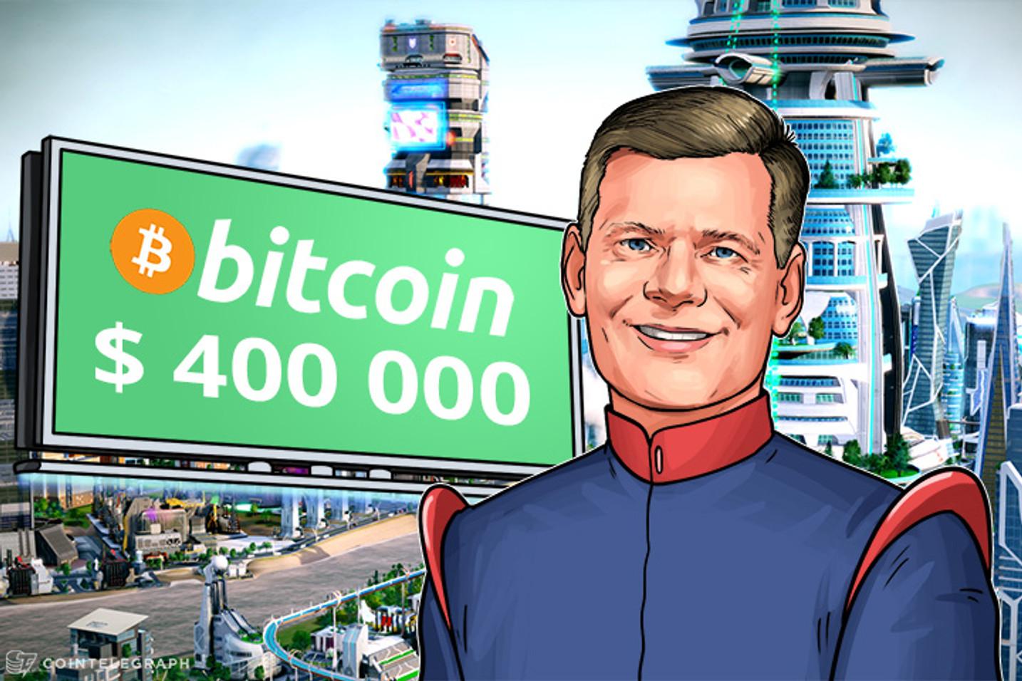 Bitcoin valdrá $400,000 afirma el gurú inversor Mark Yusko