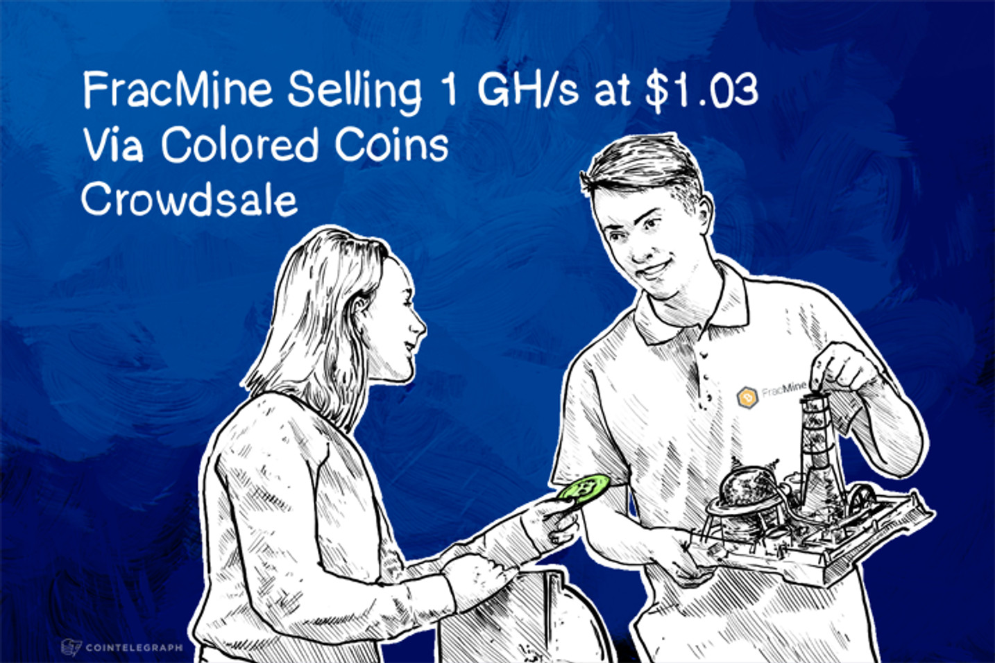 FracMine Selling 1 GH/s at $1.03 Via Colored Coins Crowdsale