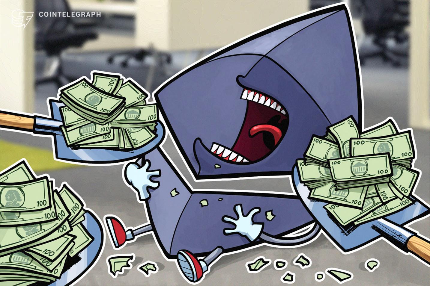 ICOが売却した仮想通貨イーサリアム 過去10日間で16万ETH