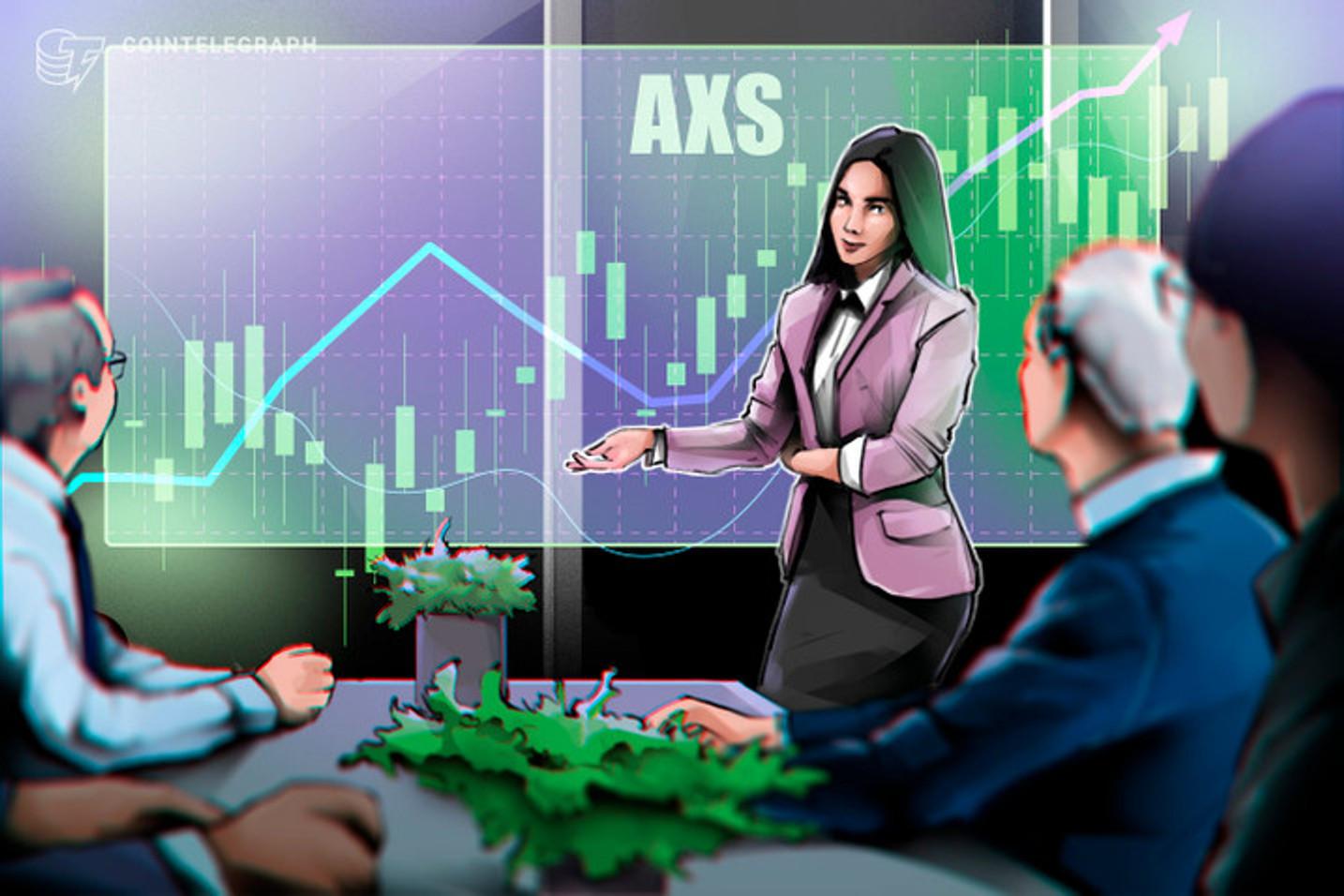 Axie Infinity (AXS) lidera lista das 5 criptomoedas que mais cresceram em sete dias, com alta de 41%