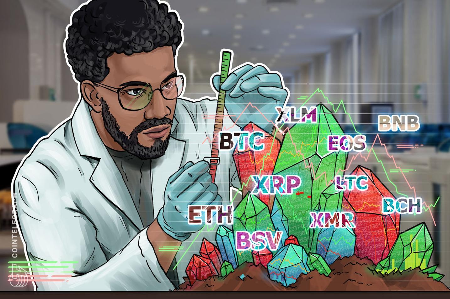 Kursanalyse, 19. August: BTC, ETH, XRP, BCH, LTC, BNB, EOS, BSV, XMR, XLM