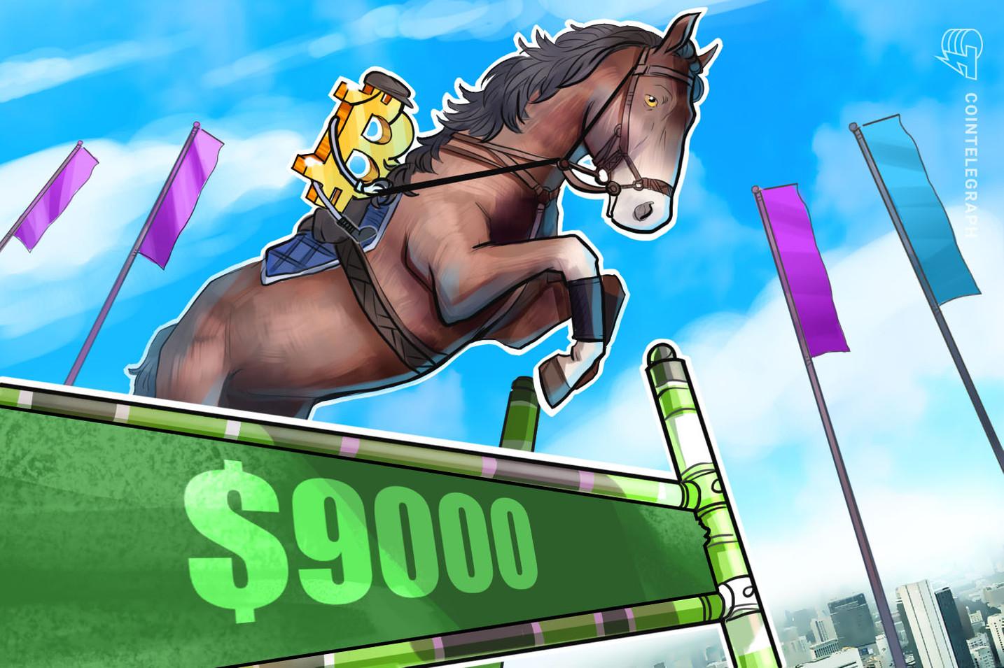 Bitcoin steigt über 9.000 US-Dollar  – 3 technische Gründe