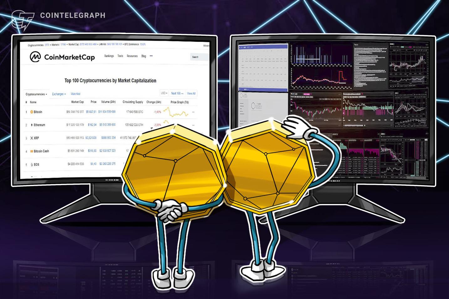 仮想通貨情報サイトのコインマーケットキャップ、価格変動時に開くチャット機能を追加