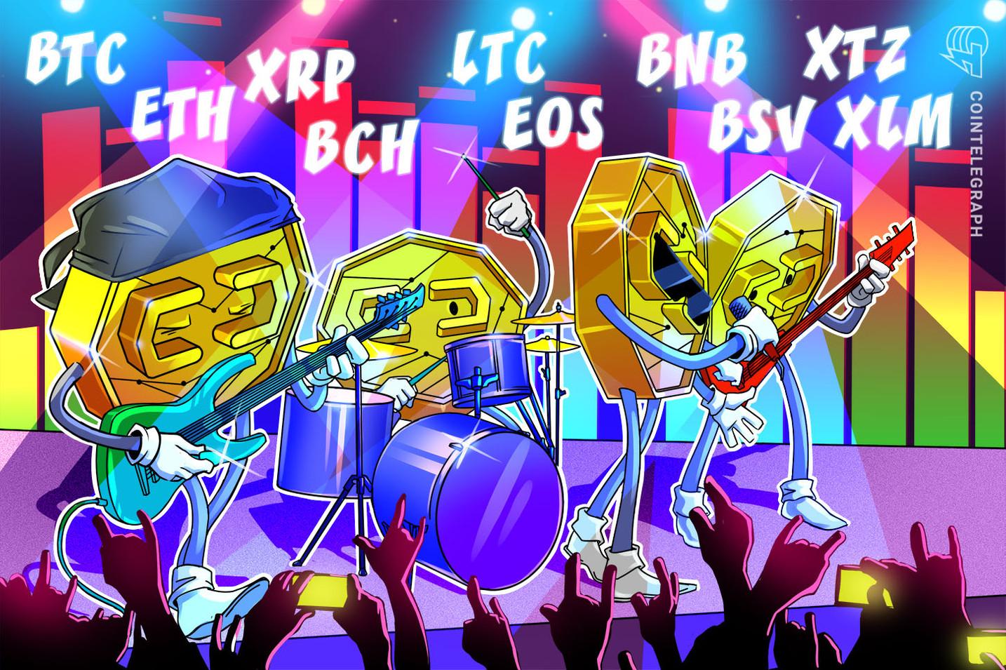 Análise de preços, 20/12: BTC, ETH, XRP, BCH, LTC, EOS, BNB, BSV, XTZ, XLM