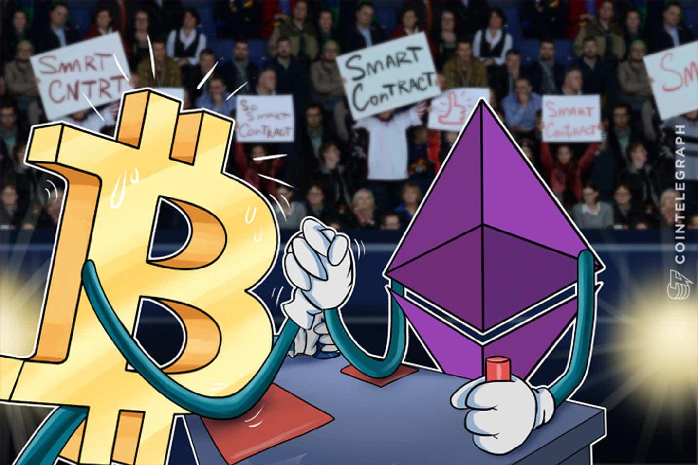 Ethereum gana cuota de mercado frente a Bitcoin
