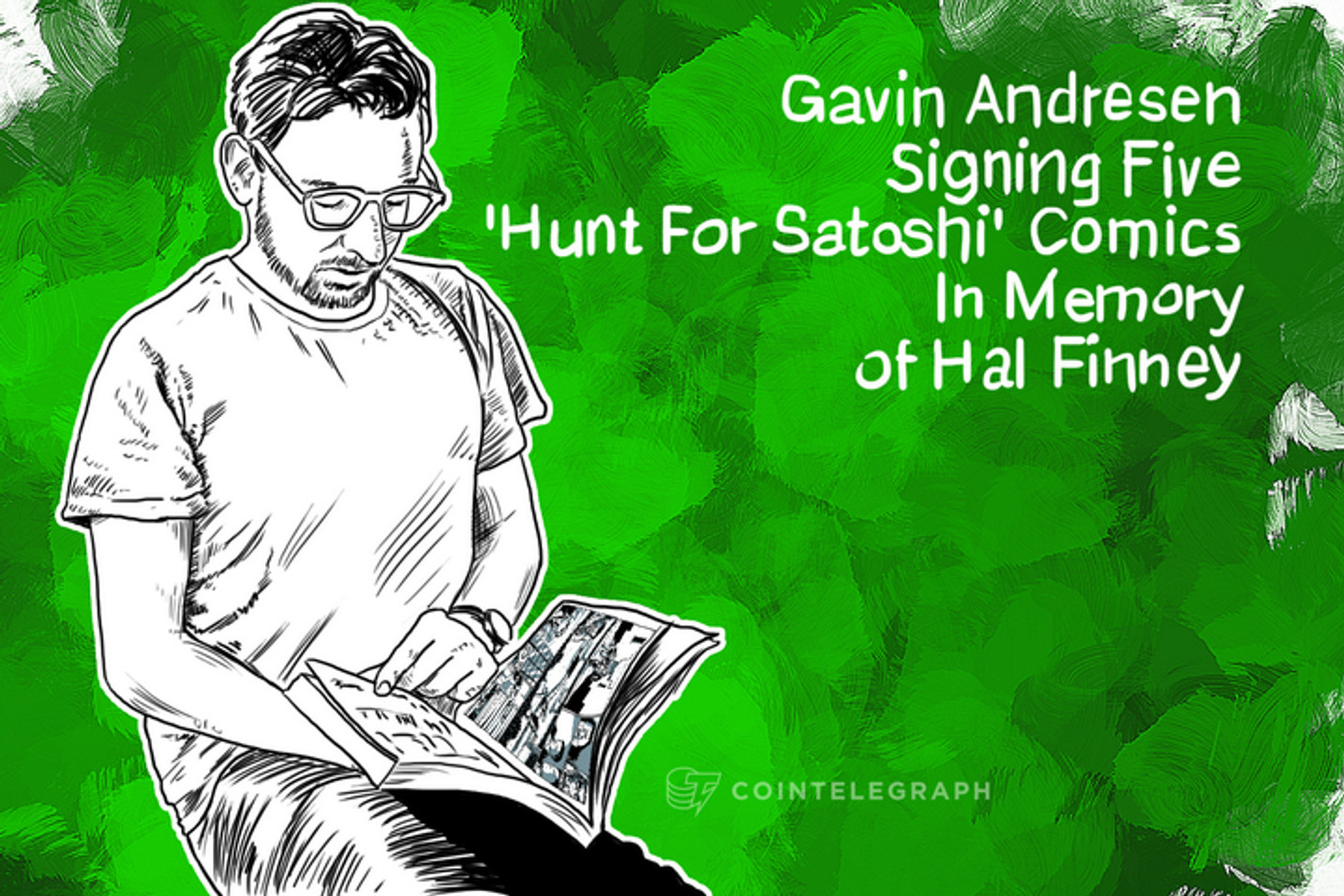 Gavin Andresen Signing Five 'Hunt For Satoshi' Comics In Memory of Hal Finney