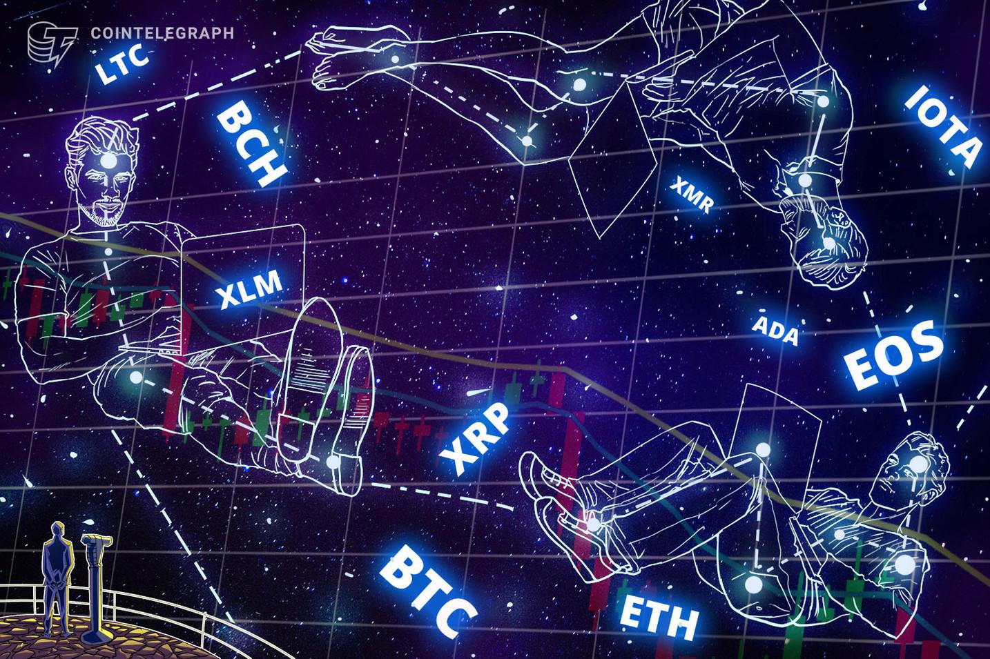 Kursanalyse, 10. Oktober: Bitcoin, Ethereum, Ripple, Bitcoin Cash, EOS, Stellar, Litecoin, Cardano, Monero, TRON