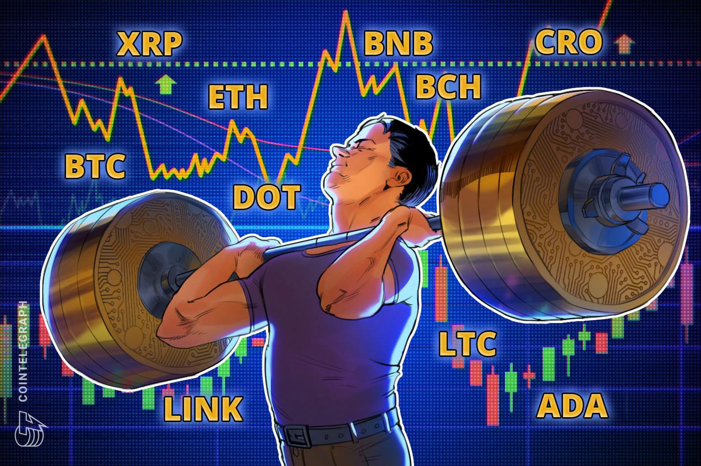 Análise de preço 12/10: BTC, ETH, XRP, BCH, BNB, LINK, DOT, ADA, LTC, CRO