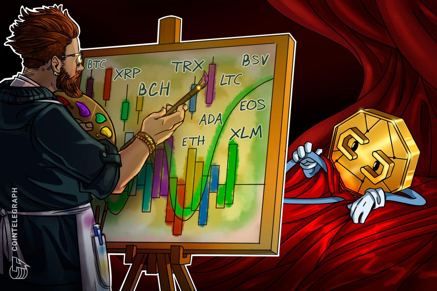 Bitcoin, Ripple, Ethereum, Bitcoin Cash, EOS, Stellar, Litecoin, TRON, Bitcoin SV, Cardano:  Análisis de precios, 21 de enero