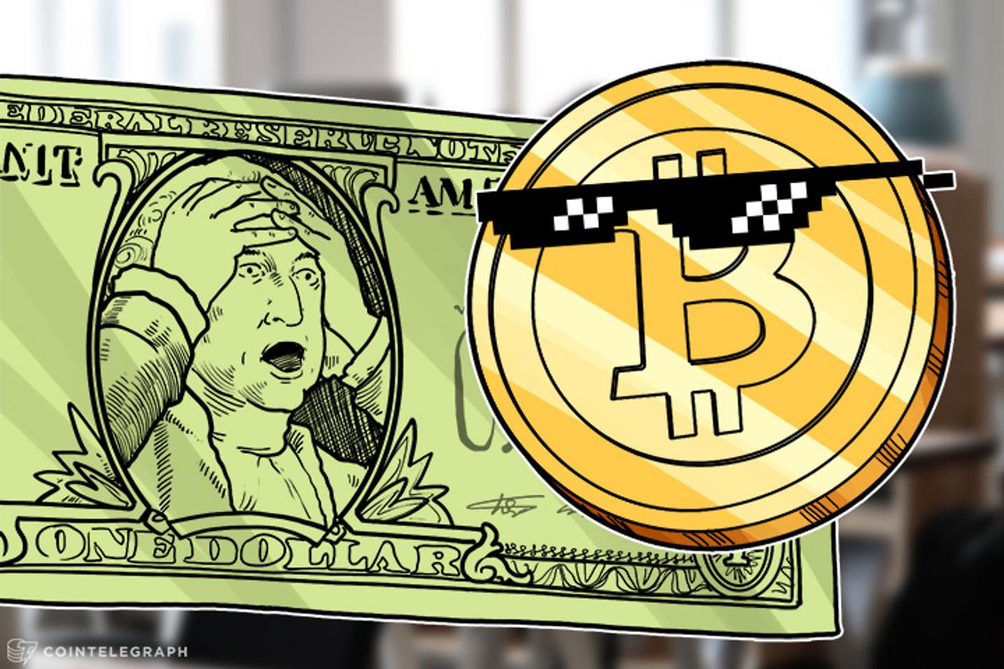 Keiser: Dólar colapsando quando bate de frente com o Bitcoin
