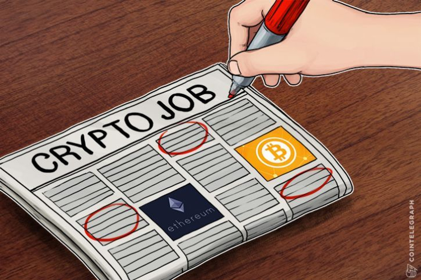 過去6か月で仮想通貨関連の仕事の求人数が2倍に