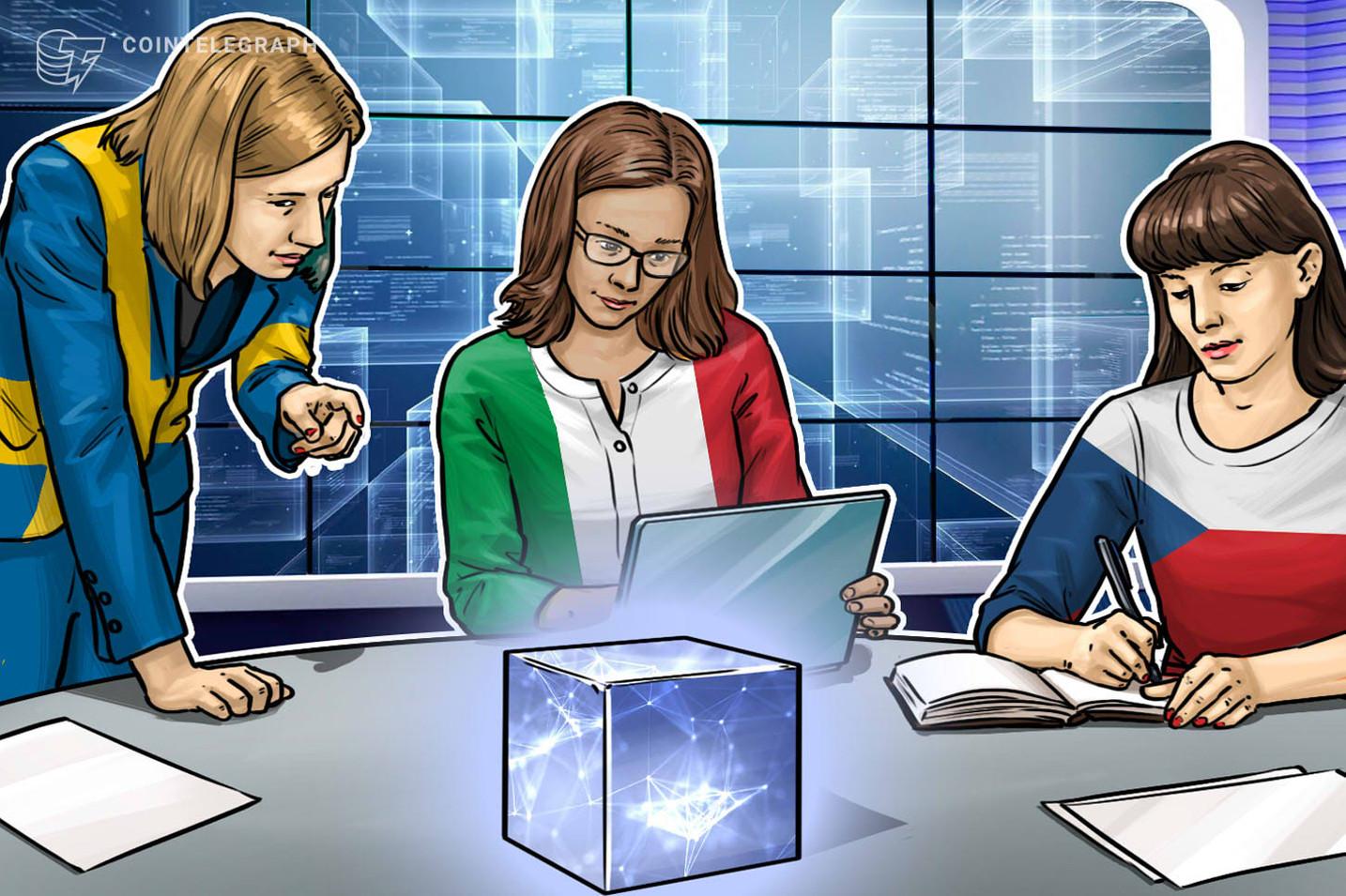 Italia, Suecia y la República Checa liderarán la Asociación Europea de Blockchain