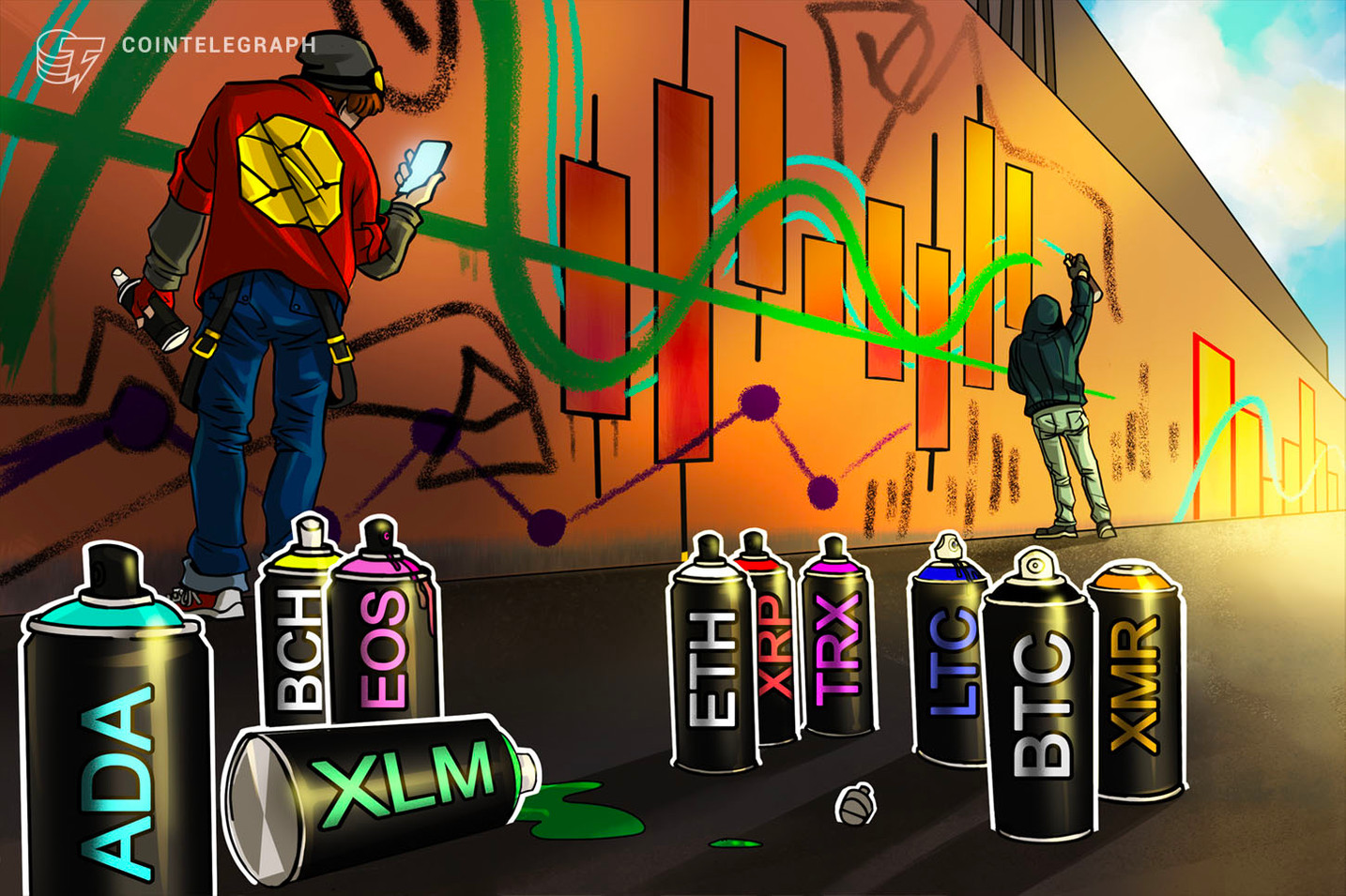 Kursanalyse, 15. Oktober: Bitcoin, Ethereum, Ripple, Bitcoin Cash, EOS, Stellar, Litecoin, Cardano, Monero, TRON