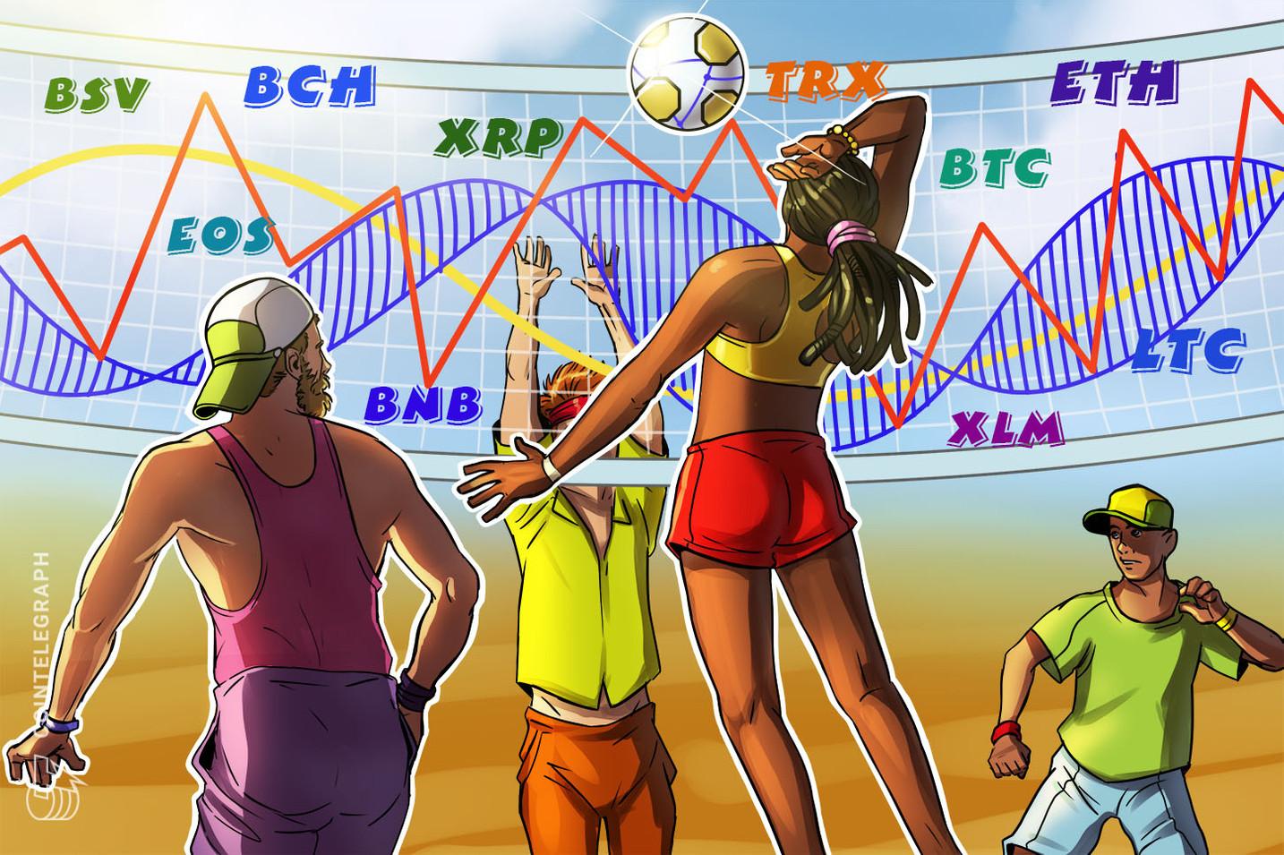 Análisis de Precios 12/07: BTC, ETH, XRP, LTC, BCH, EOS, BNB, BSV, TRX, XLM