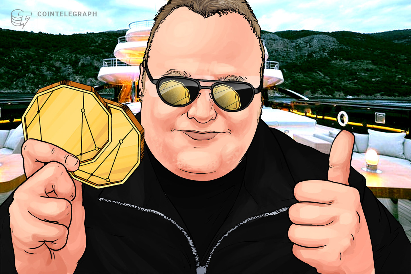 Kim Dotcom to Sell His 'Built on Bitcoin' Token Next Month on Bitfinex