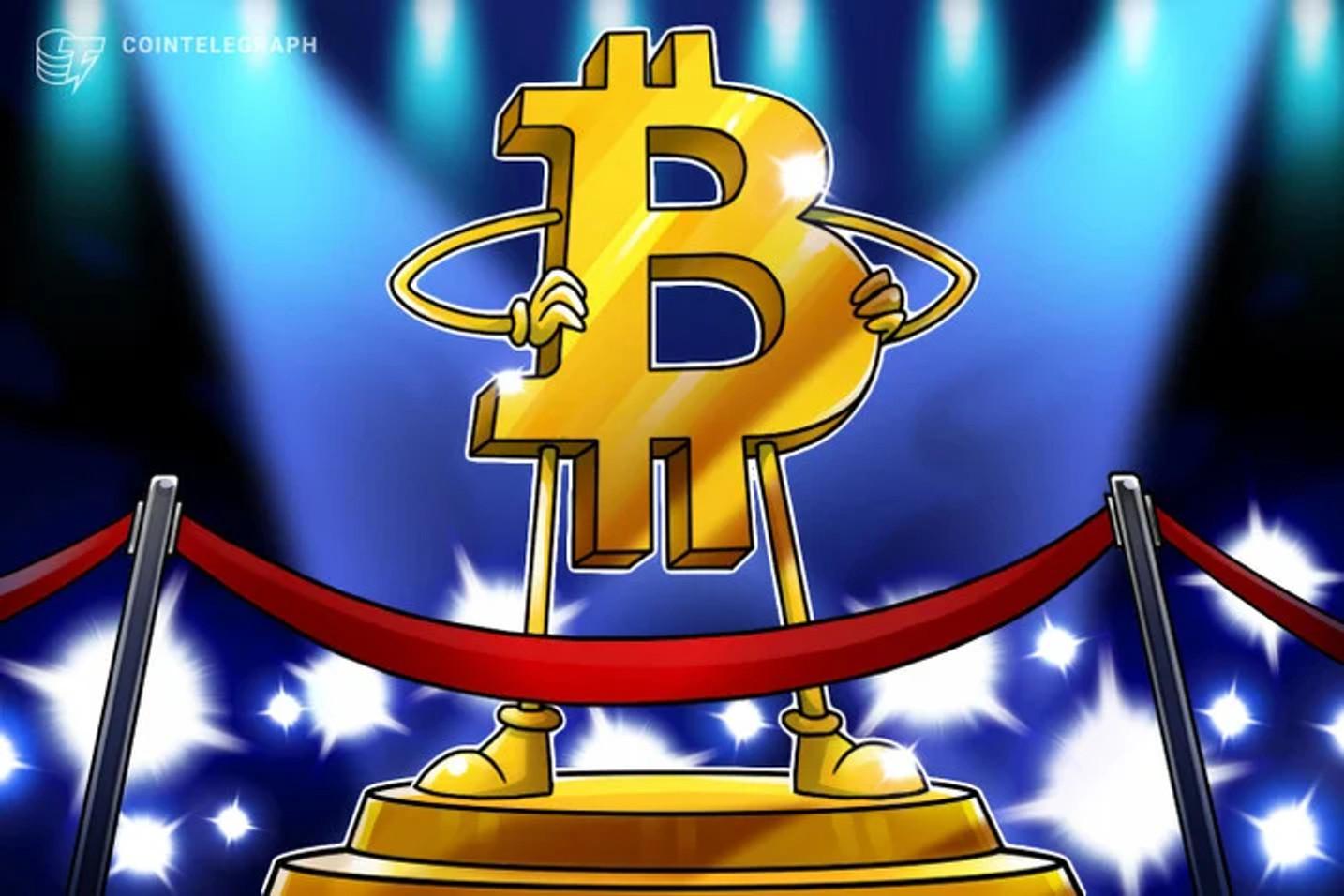 Valor anual del precio de Bitcoin está alcanzando un máximo histórico
