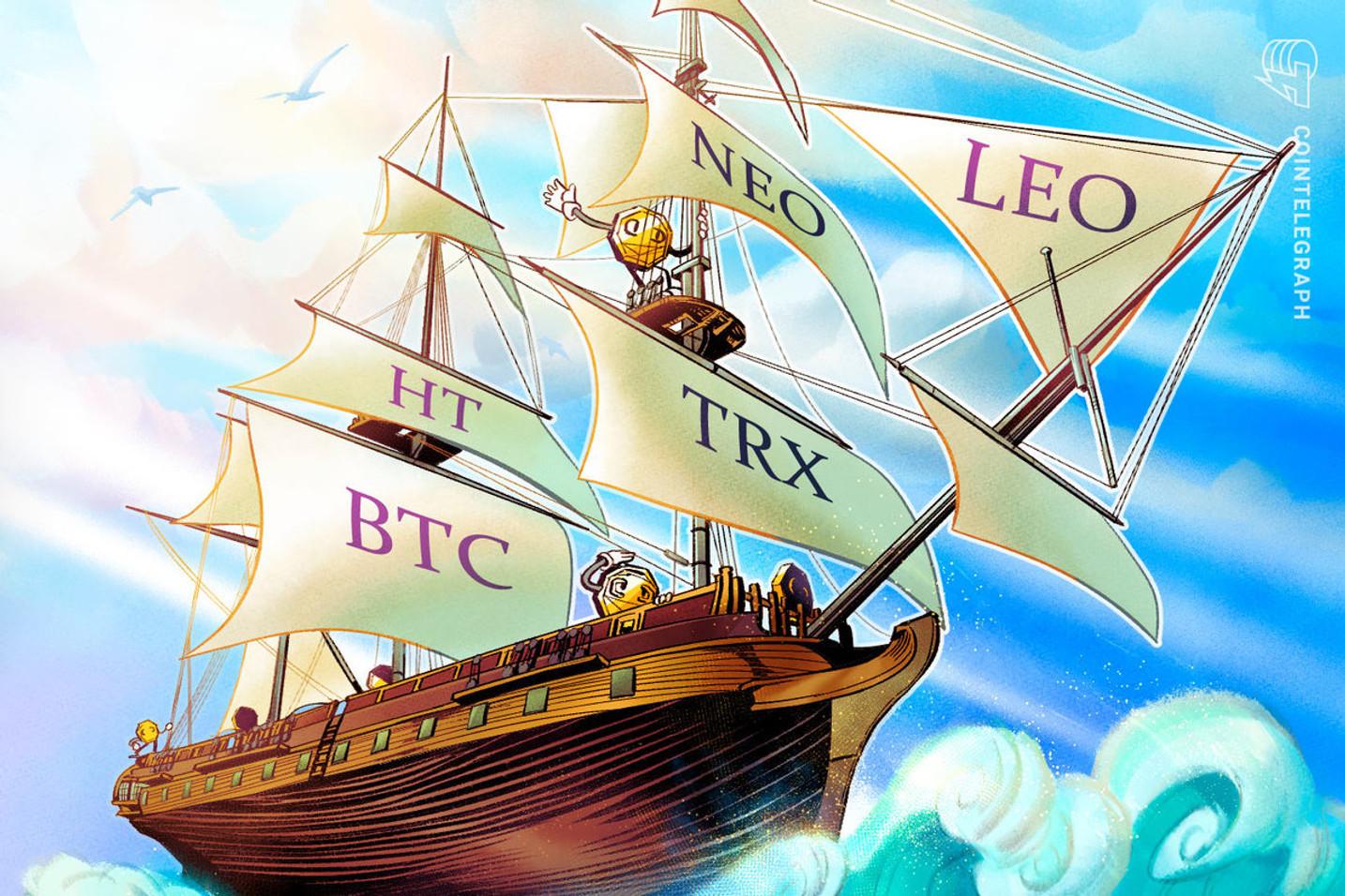 Top-5 Cryptos This Week: HT, BTC, TRX, NEO, LEO