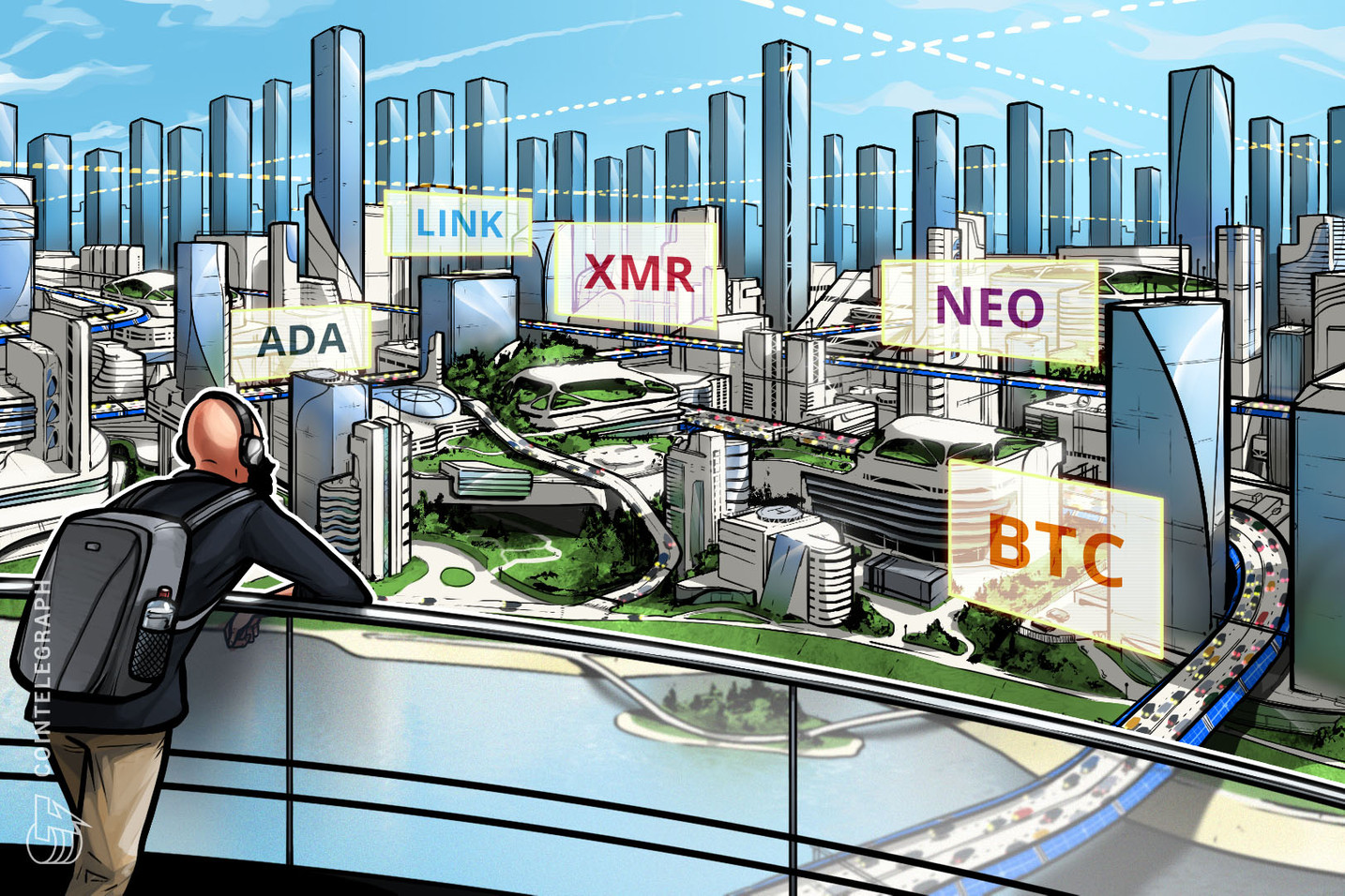 Top 5 cryptocurrencies to watch this week: BTC, NEO, XMR, ADA, LINK