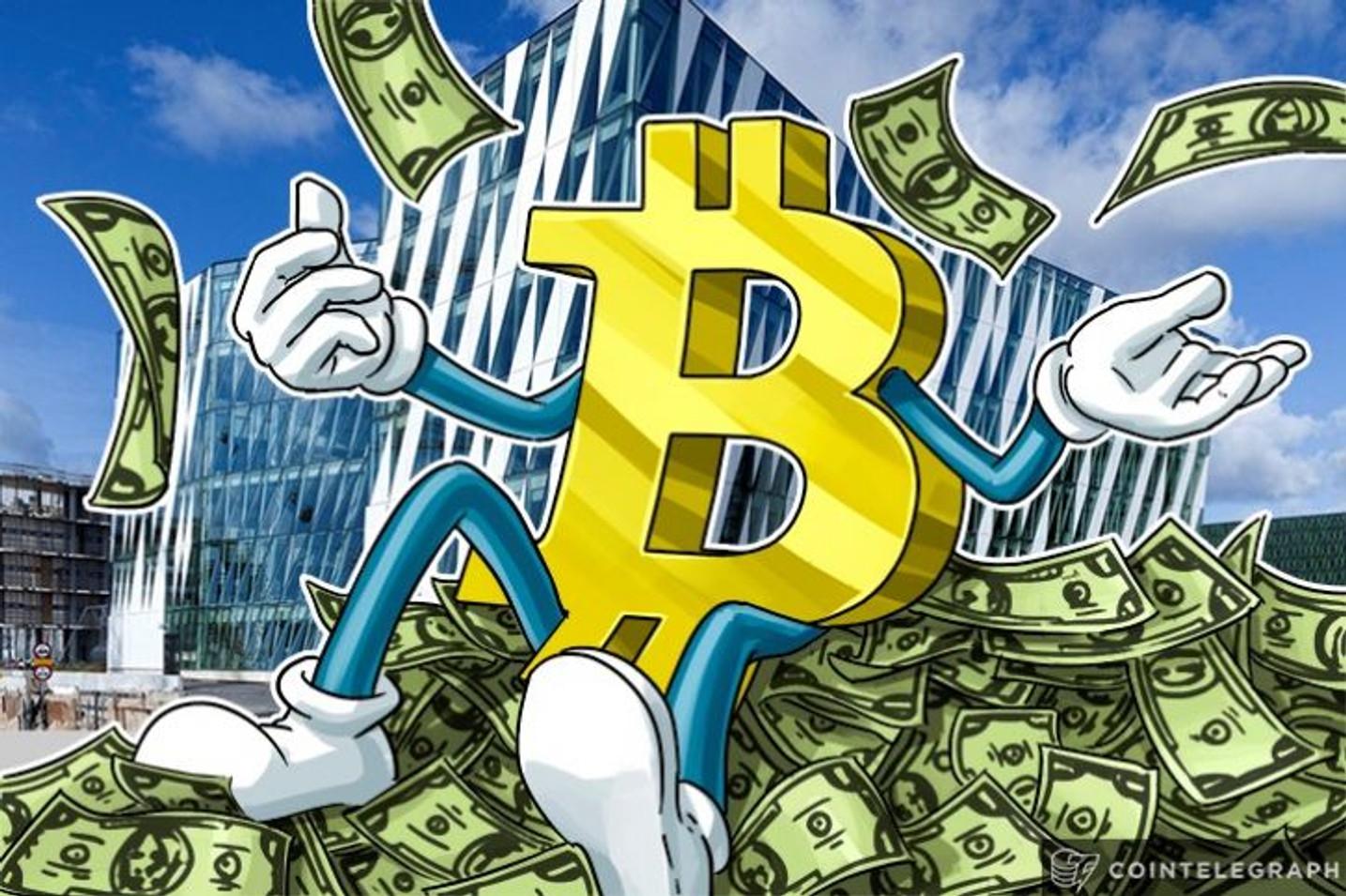 Limite de Mercado do Bitcoin cruza a Marca dos US$ 50 Bilhões à medida que o Preço do BTC sobe