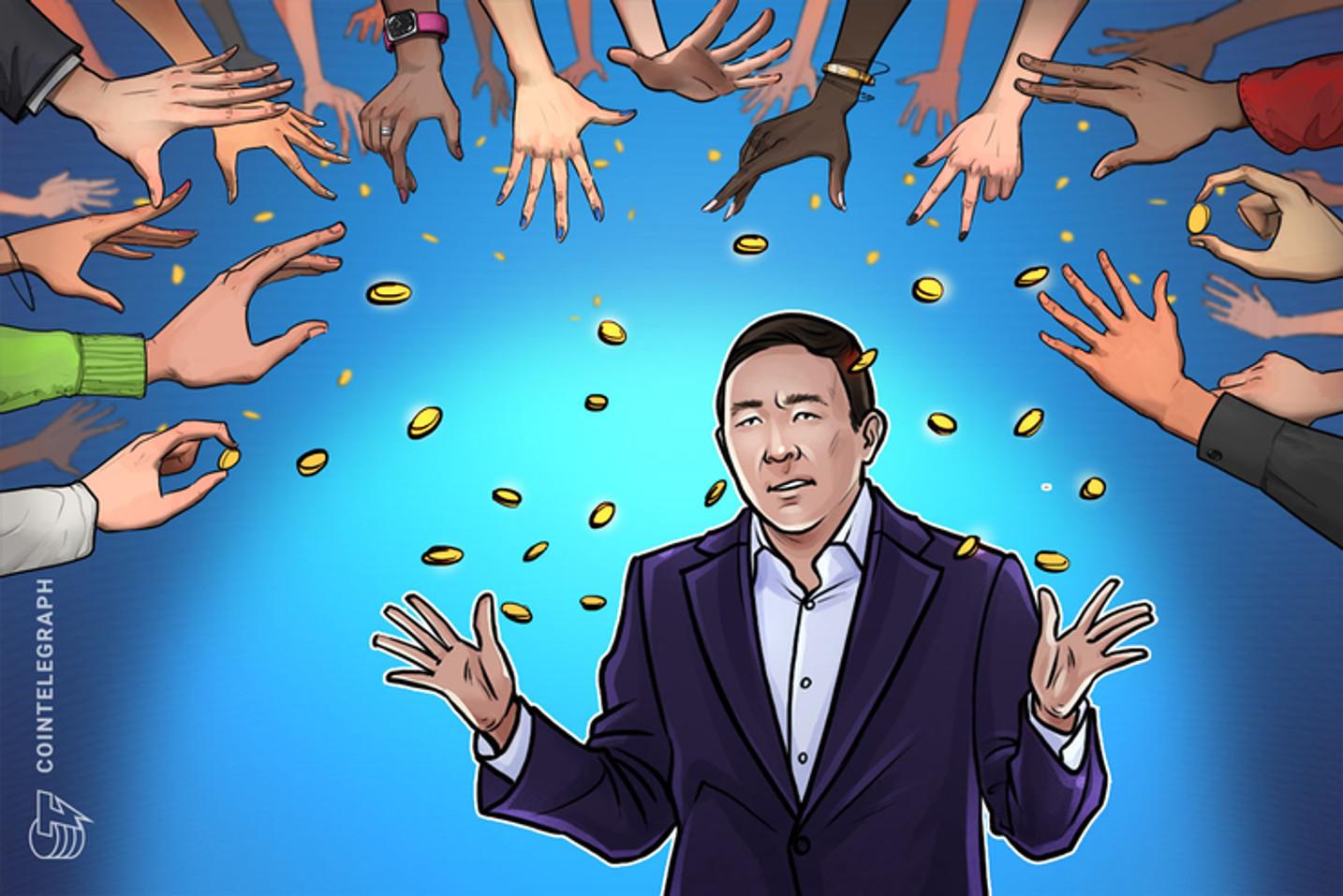 """Andrew Yang entregará dinero a todo el mundo """"literalmente""""- Como lo hizo OneCoin"""