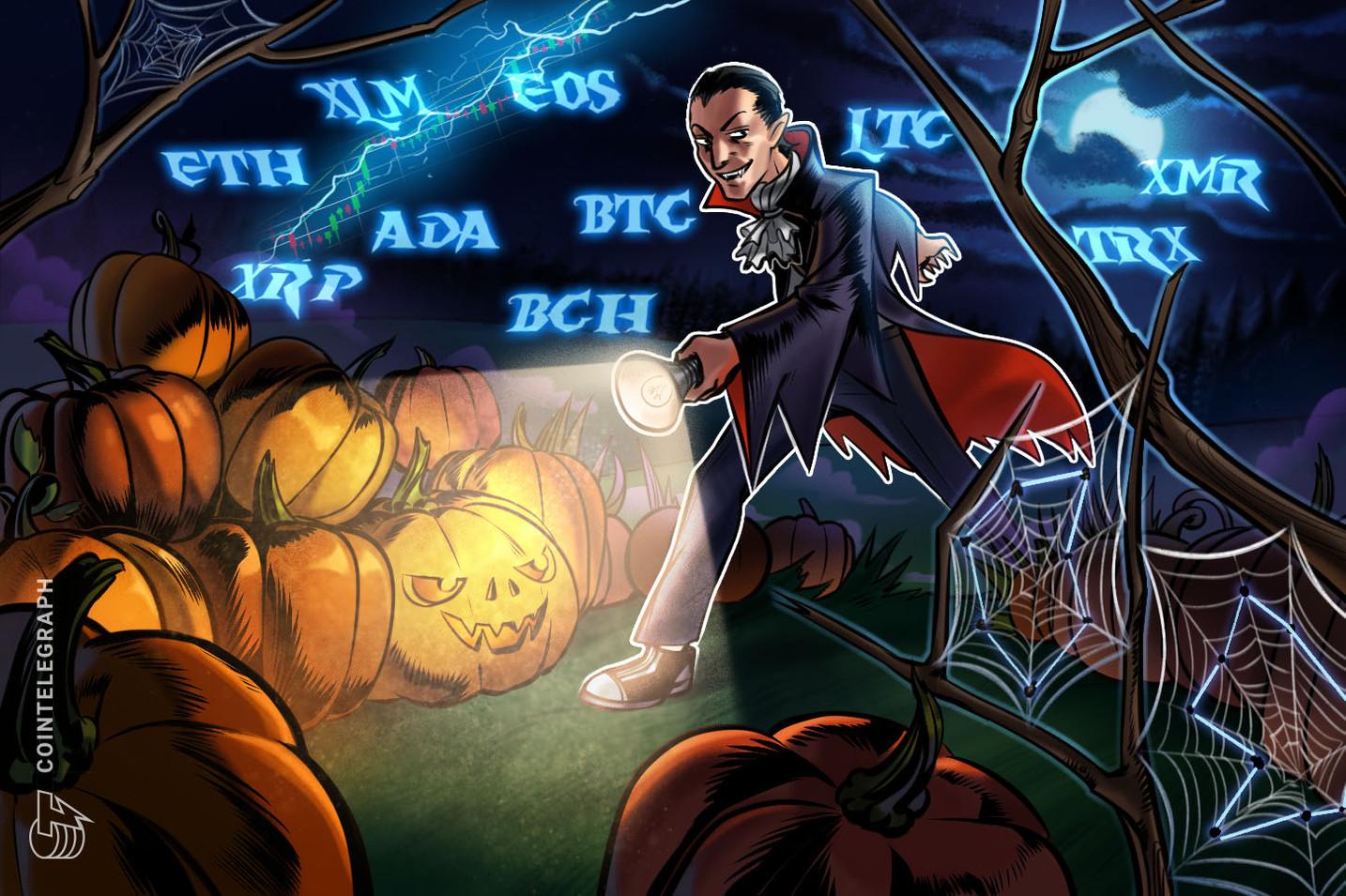 Kursanalyse, 31. Oktober: Bitcoin, Ethereum, Ripple, Bitcoin Cash, EOS, Stellar, Litecoin, Cardano, Monero, TRON