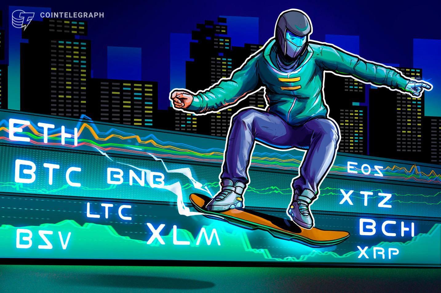 7,000ドル台維持なら強気シグナルに、仮想通貨ビットコイン・イーサ・XRP(リップル)のテクニカル分析【価格予想】
