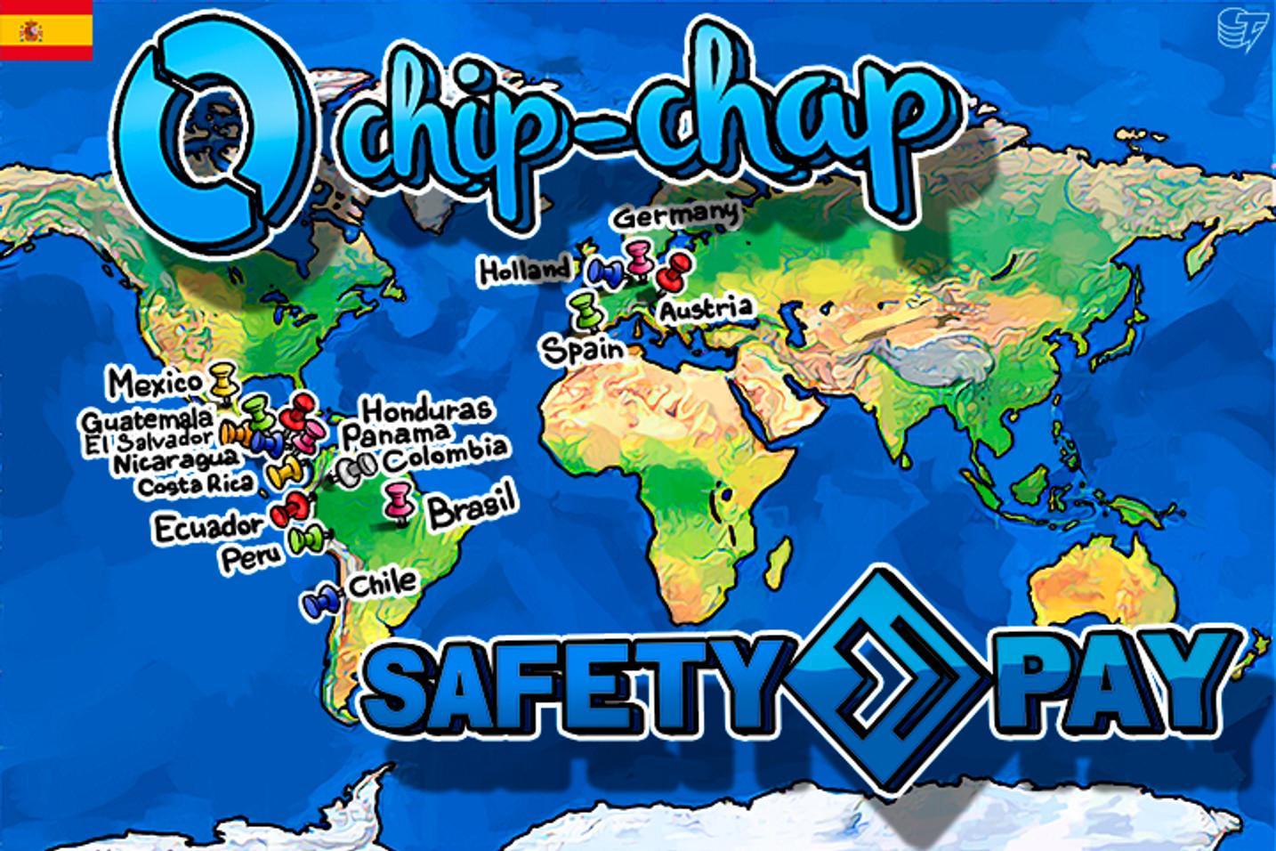 Chip-Chap permite comprar bitcoins mediante SafetyPay en 16 países y 76 bancos