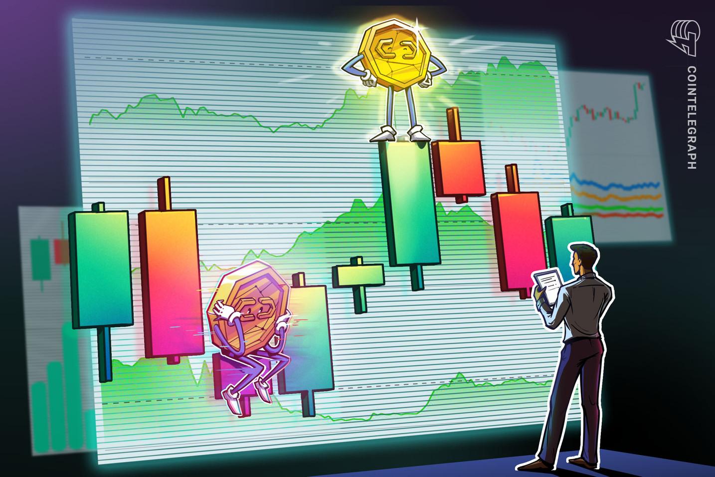 Analista diz que Cardano e mais 5 altcoins podem subir 40% e superar o Bitcoin que ainda tem que vencer US$ 57 mil para atingir novos recordes