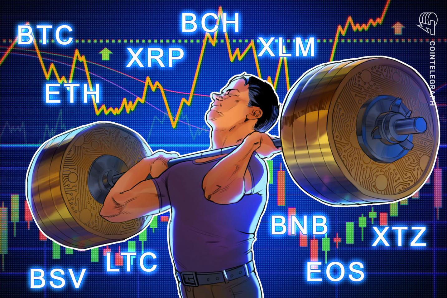 Análisis de precios del 5/1: BTC, ETH, XRP, BCH, BSV, LTC, BNB, EOS, XTZ, XLM
