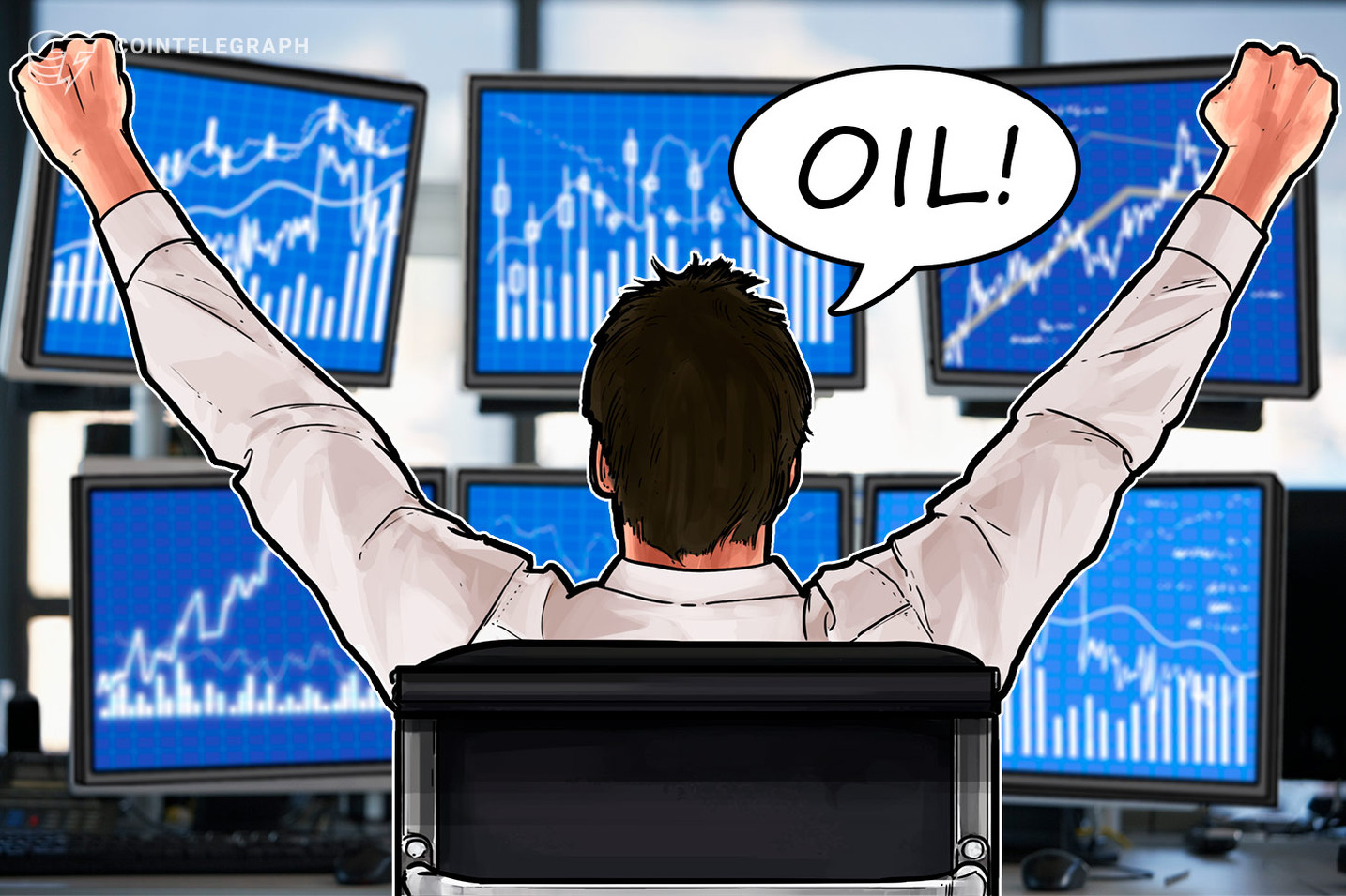 Traders Buy Oil Futures With Crypto Amid Record Volatility