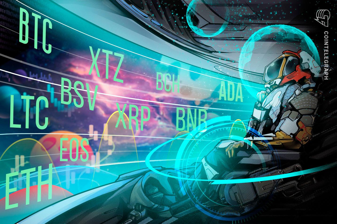 Price Analysis 5/27: BTC, ETH, XRP, BCH, BSV, LTC, BNB, EOS, XTZ, ADA