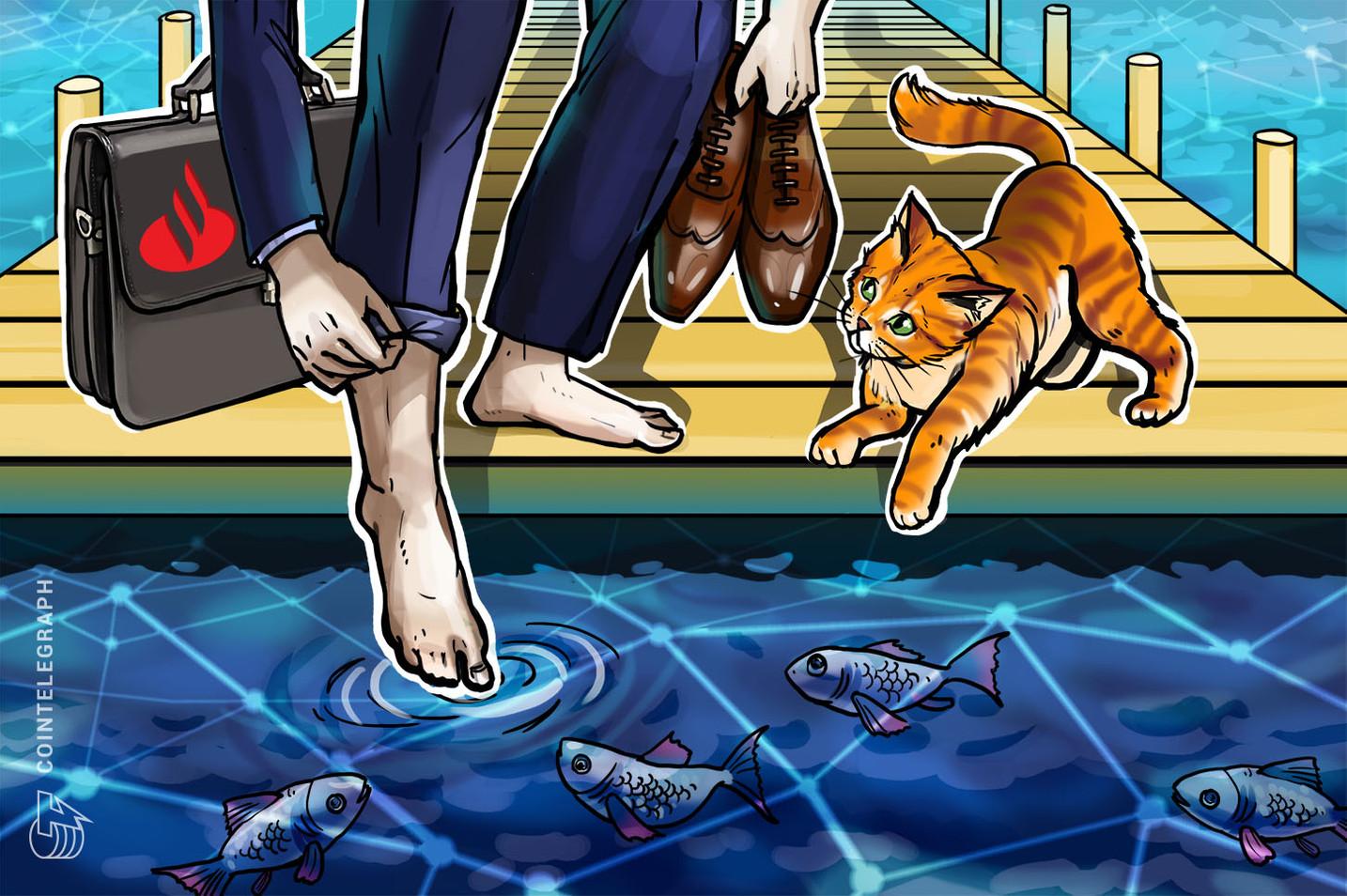 サンタンデール銀行、証券取引でのブロックチェーンの可能性を調査