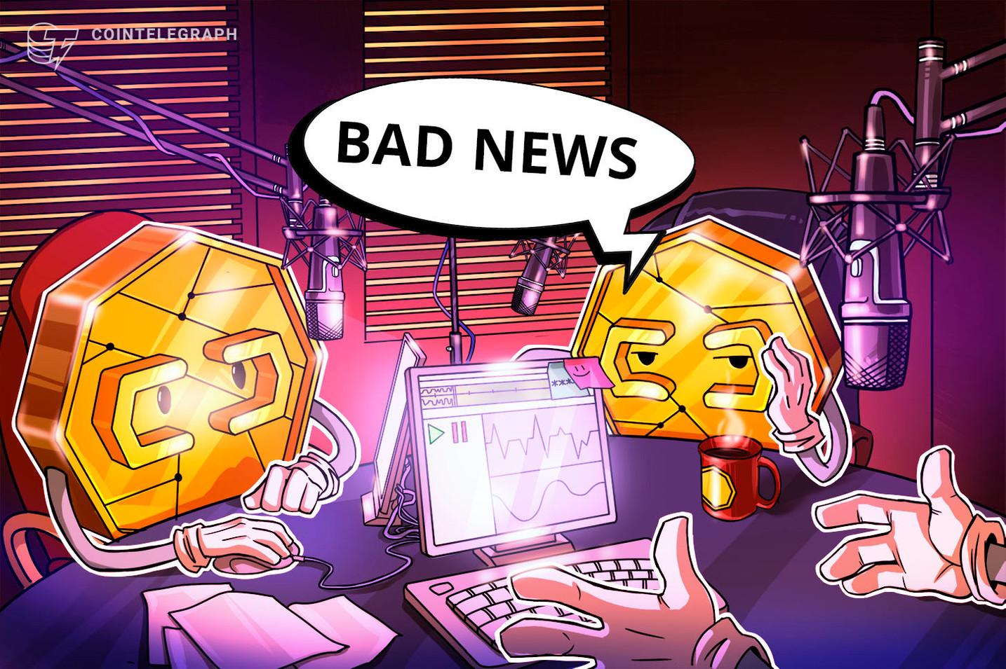 Censura china, caída de precios, minería ilegal y más en las malas noticias sobre criptomonedas de la semana