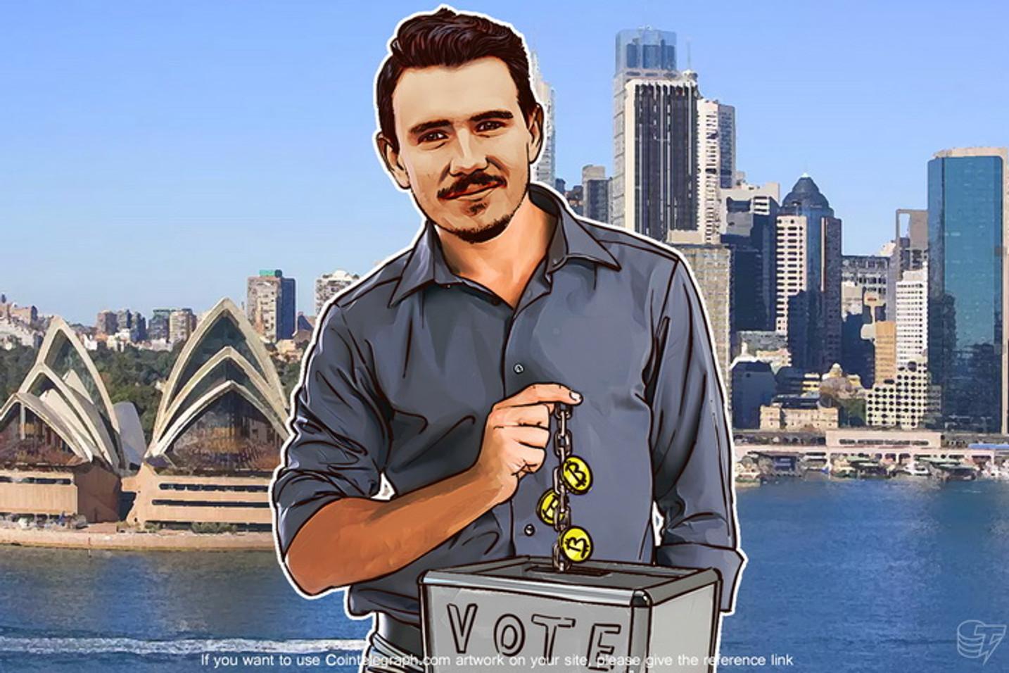 The Bitcoin Democracy Down Under: Vote Tokens to Disrupt Politics in Australia