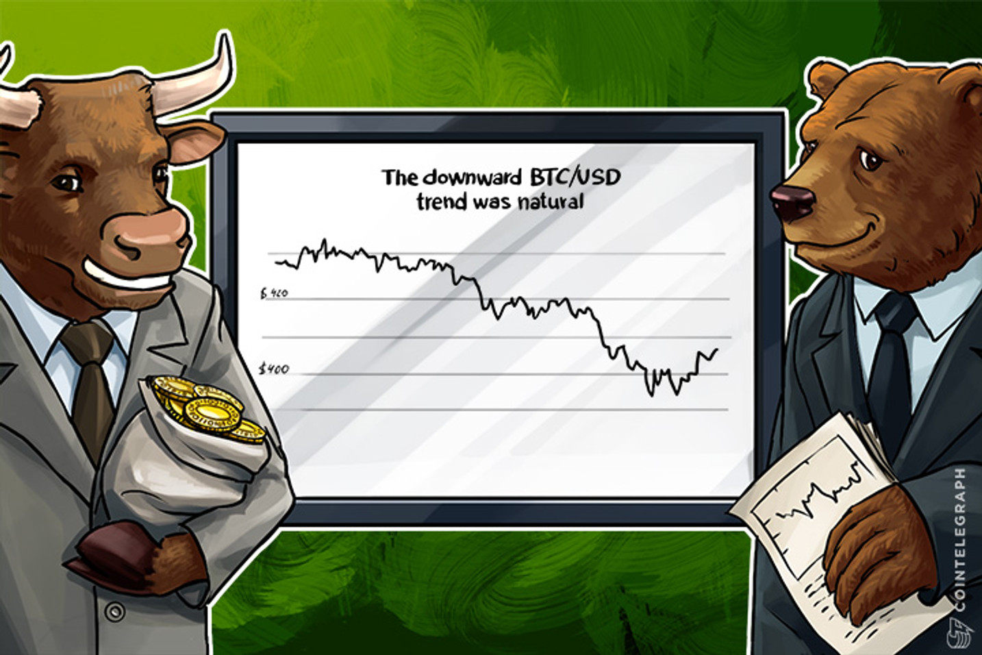 Bitcoin's Price Downward Trend was Natural