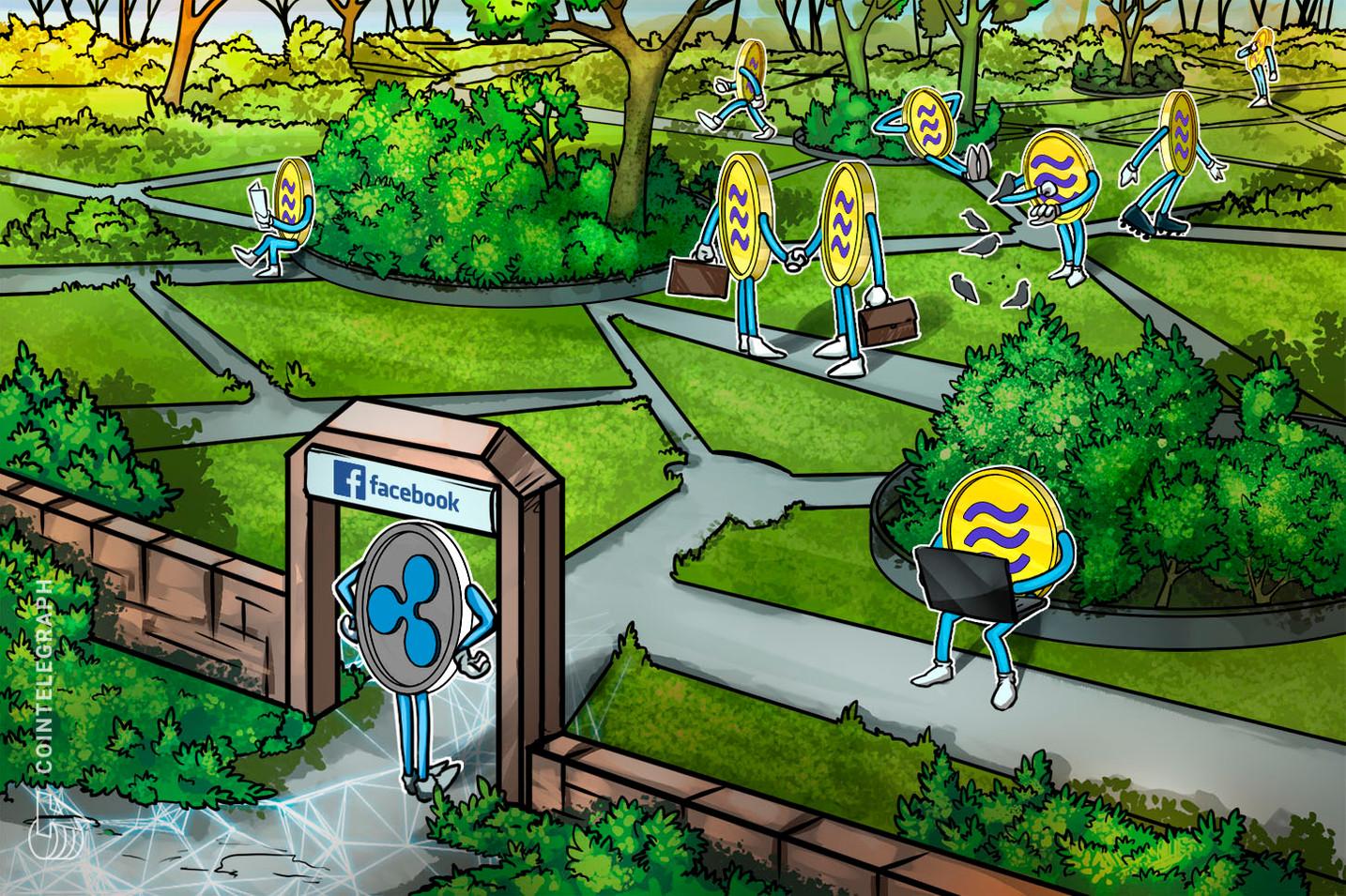 リップル幹部、仮想通貨リブラを「壁に囲まれた庭」と批判