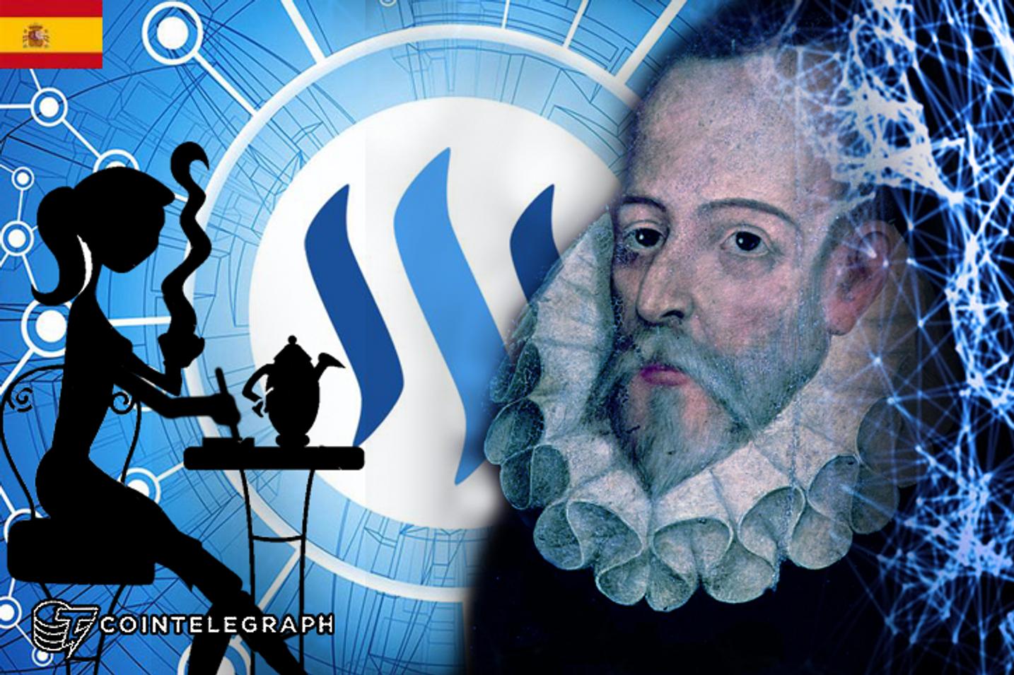 STEEMIT Y EL CASTELLANO: Un café con Cervantes